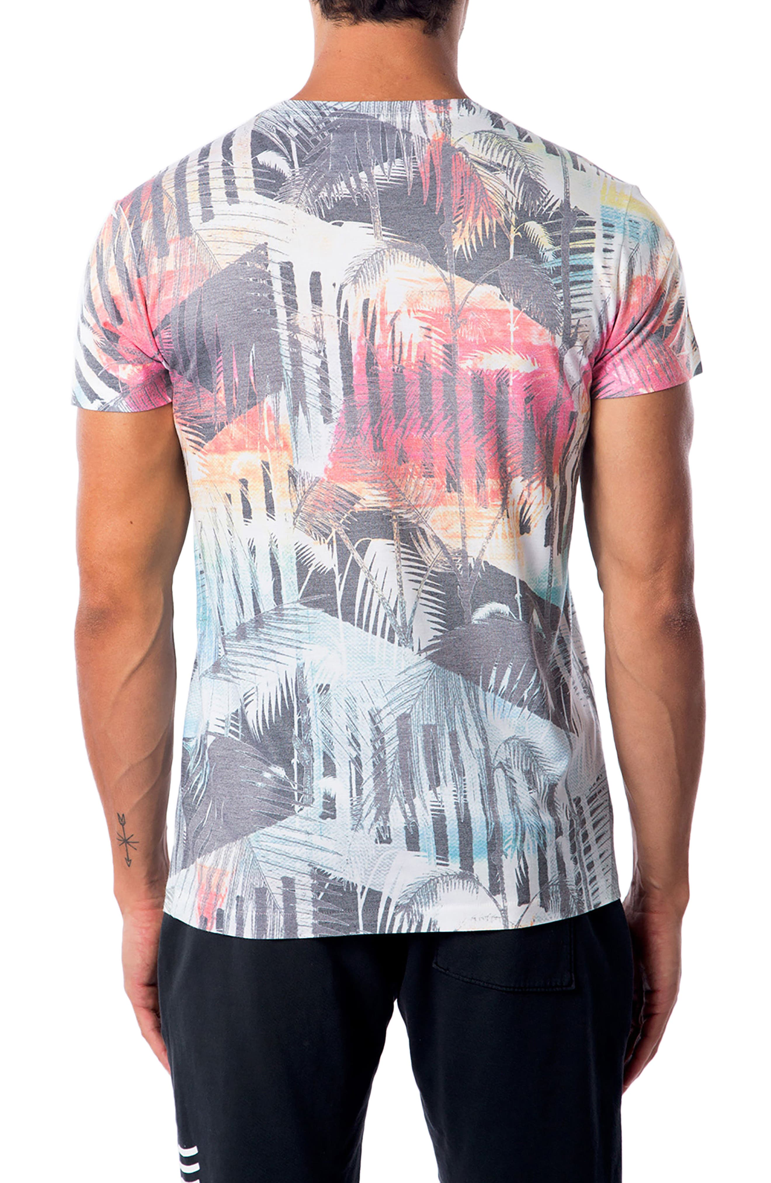 Deco Palms Print T-Shirt,                             Alternate thumbnail 2, color,                             100