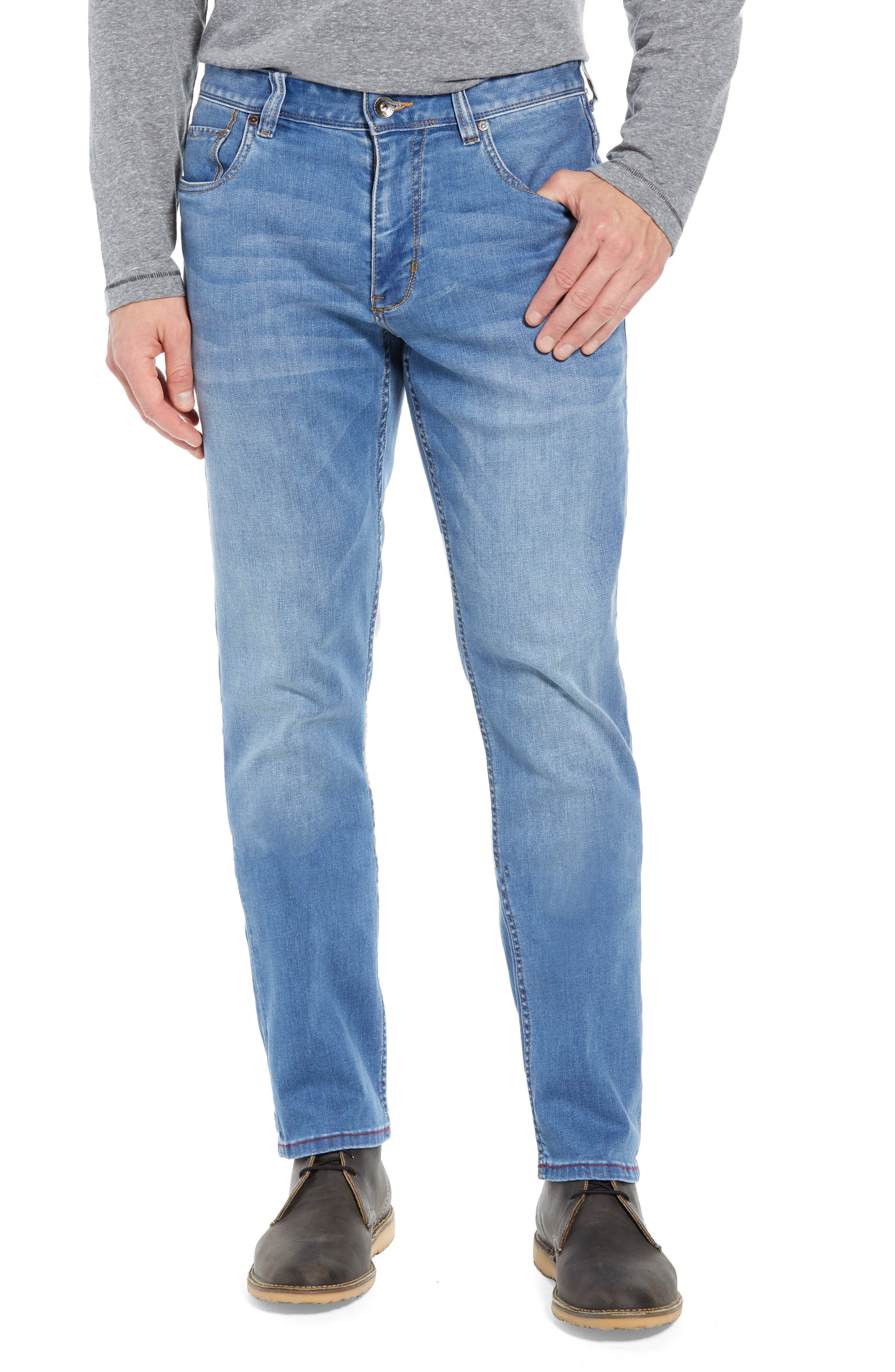 Costa Rica Vintage Regular Fit Jeans,                             Main thumbnail 1, color,                             MED WASH