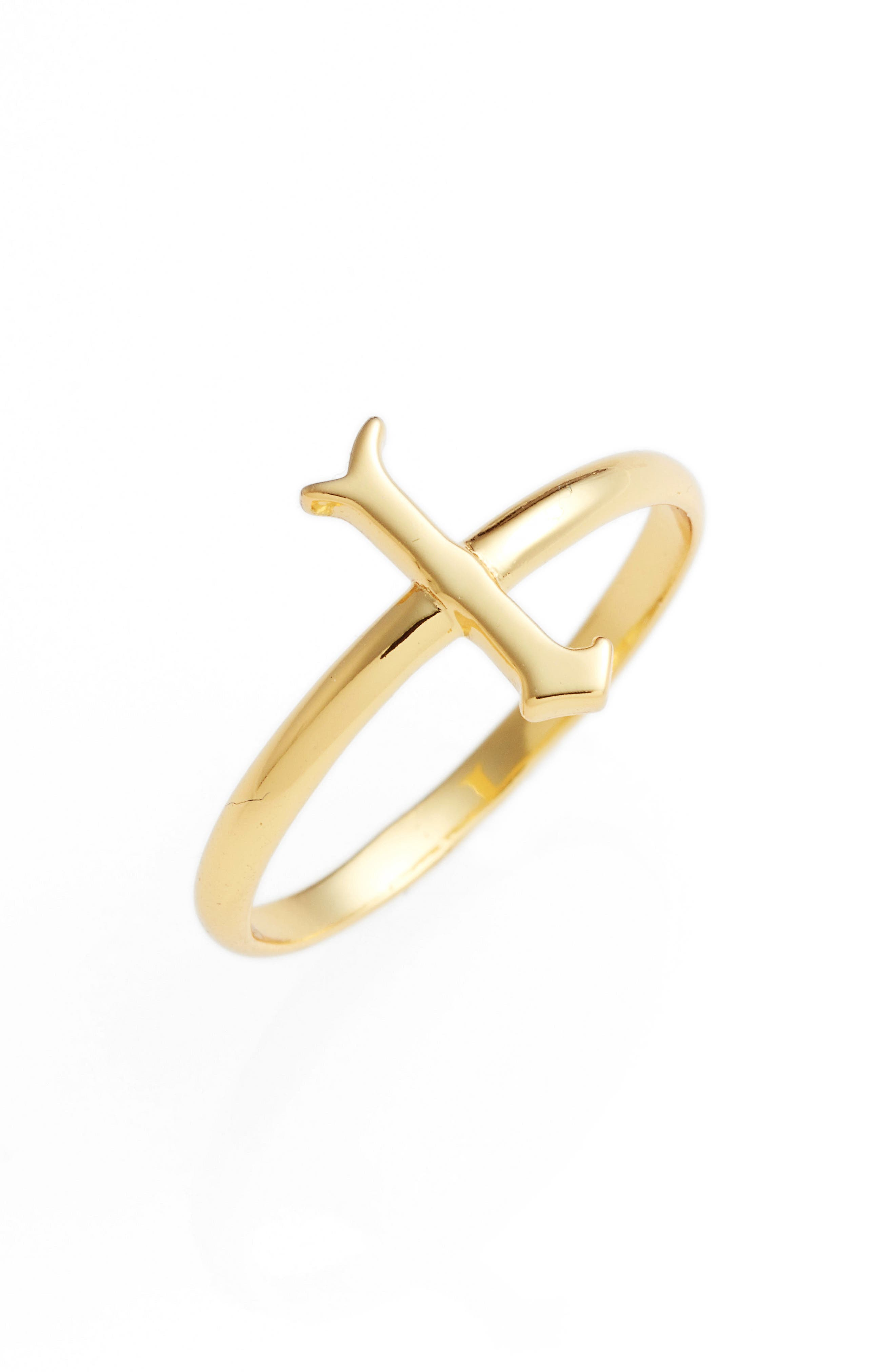 Gothic Initial Ring,                             Main thumbnail 23, color,