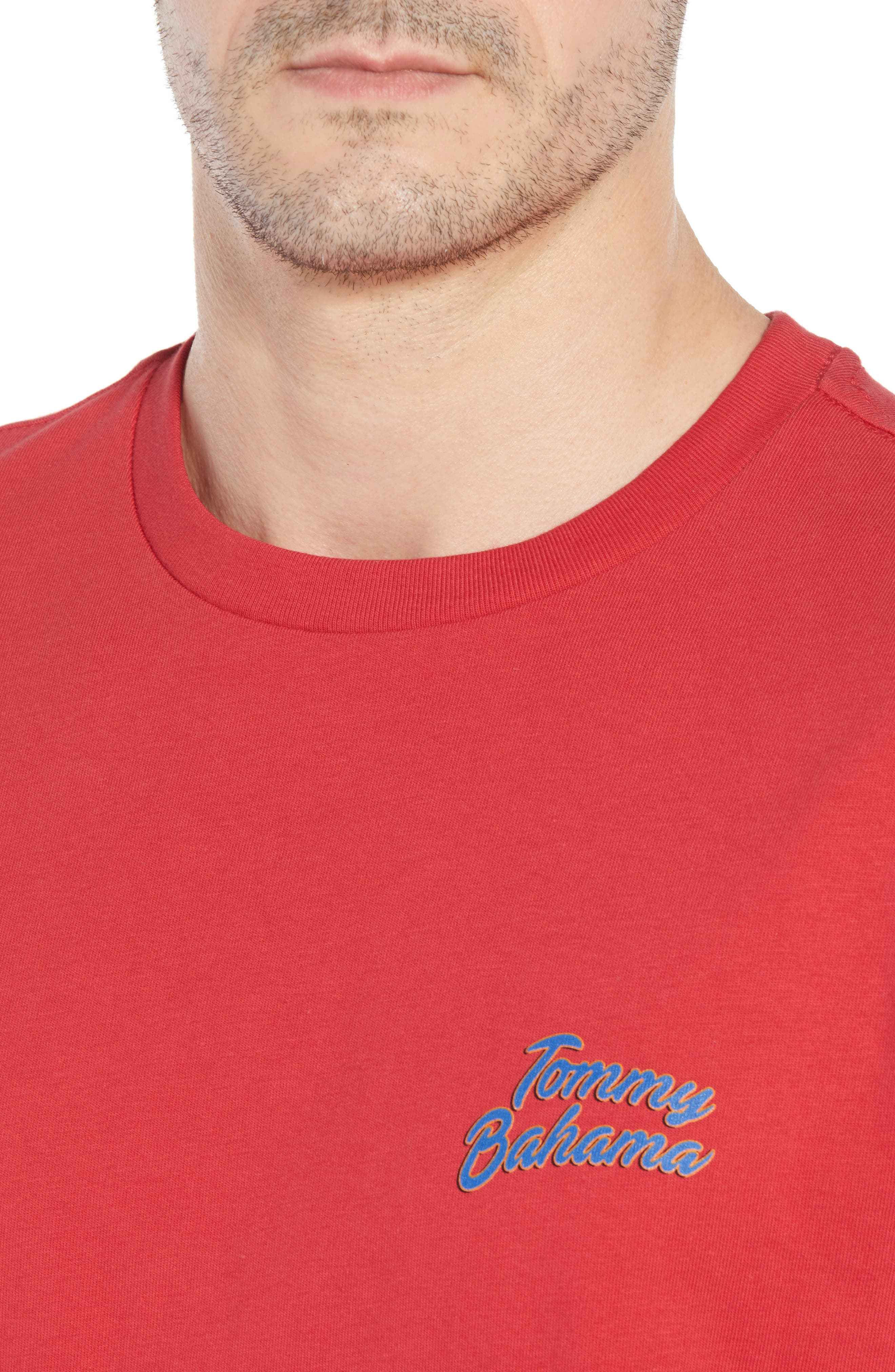 Thirst Base Graphic T-Shirt,                             Alternate thumbnail 4, color,                             LUCKY RED
