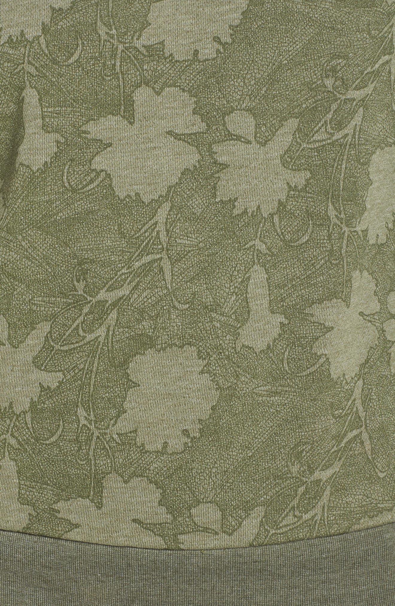 Sleek Leaf Kale Sweatshirt,                             Alternate thumbnail 6, color,                             GREEN