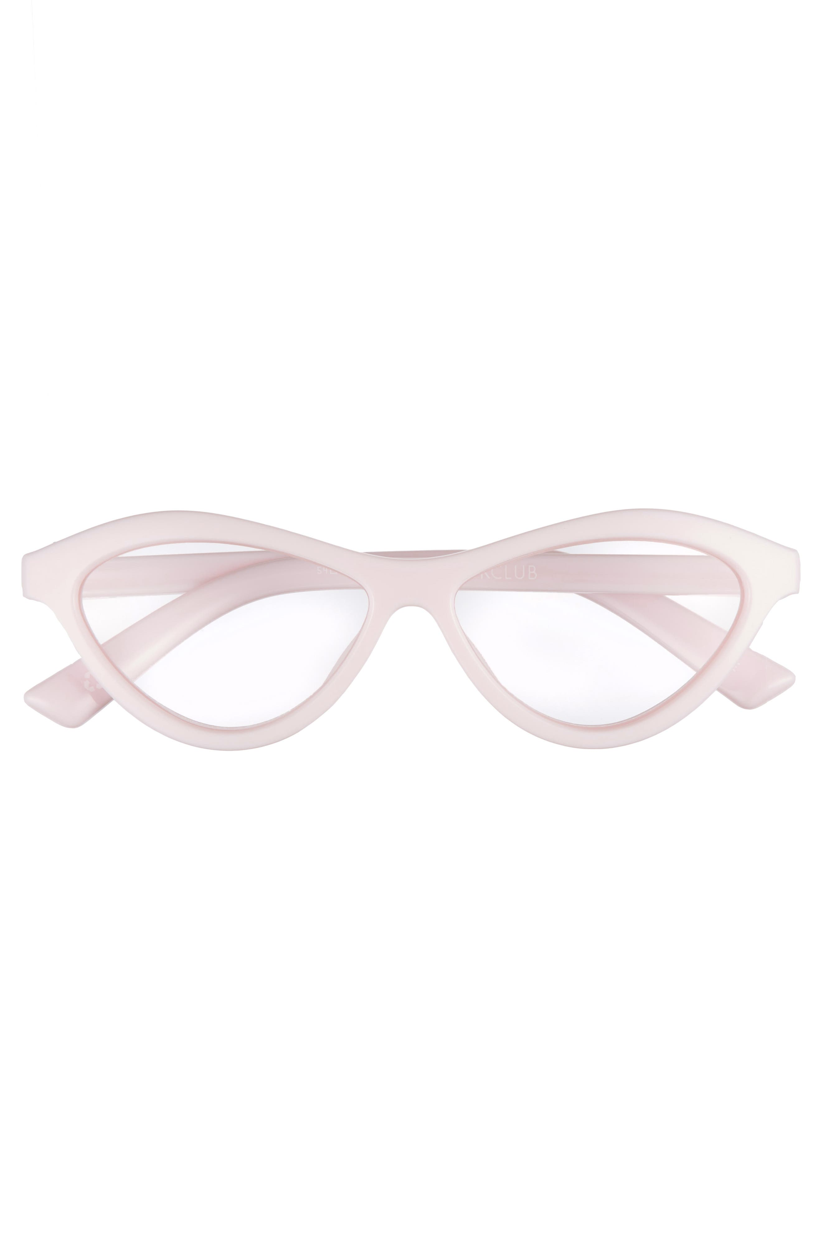 Fifty Fails a Day 54mm Reading Glasses,                             Alternate thumbnail 3, color,                             POWDER PINK