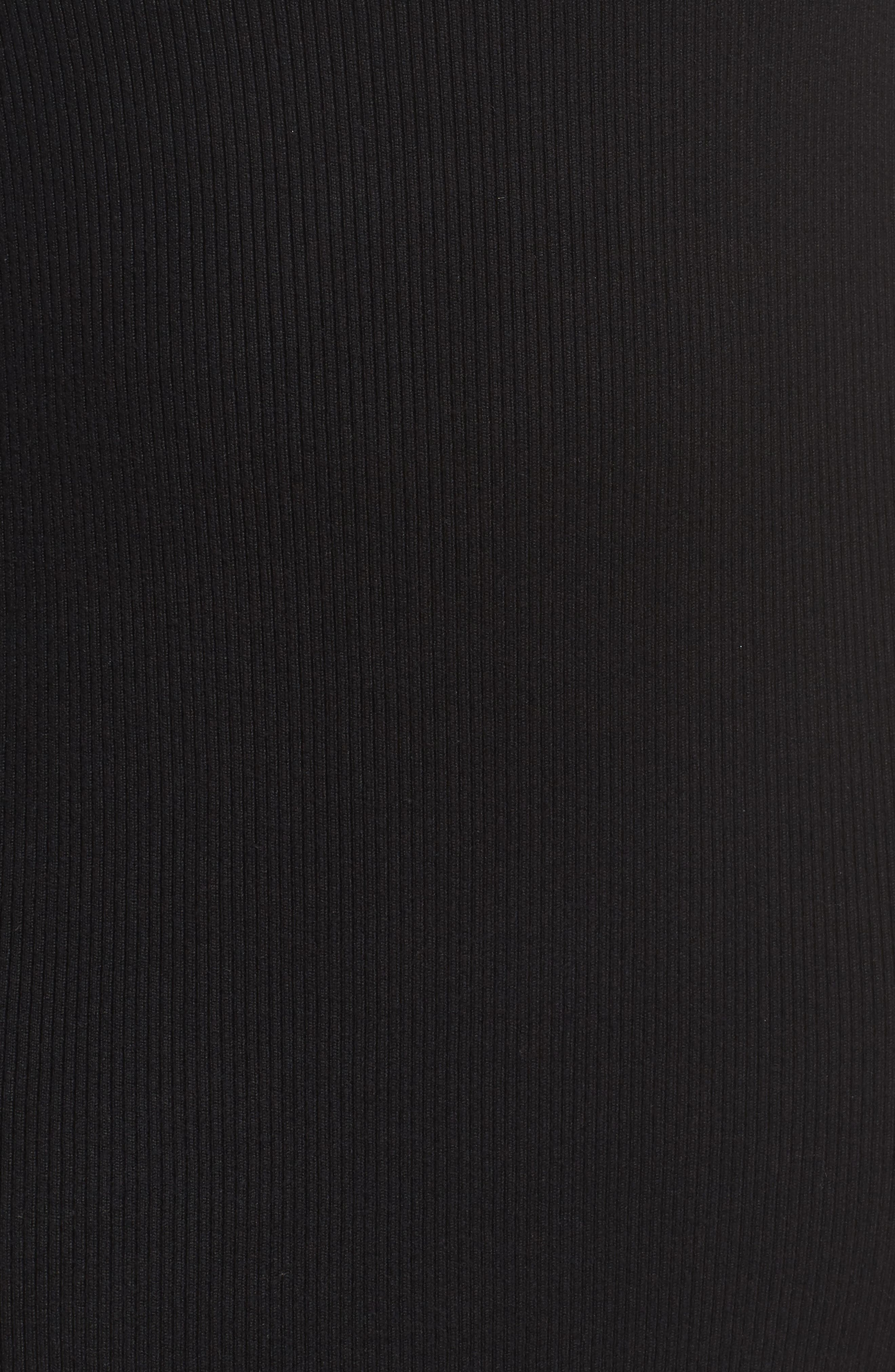 Glitter Colorblock Knit Body-Con Dress,                             Alternate thumbnail 6, color,                             001