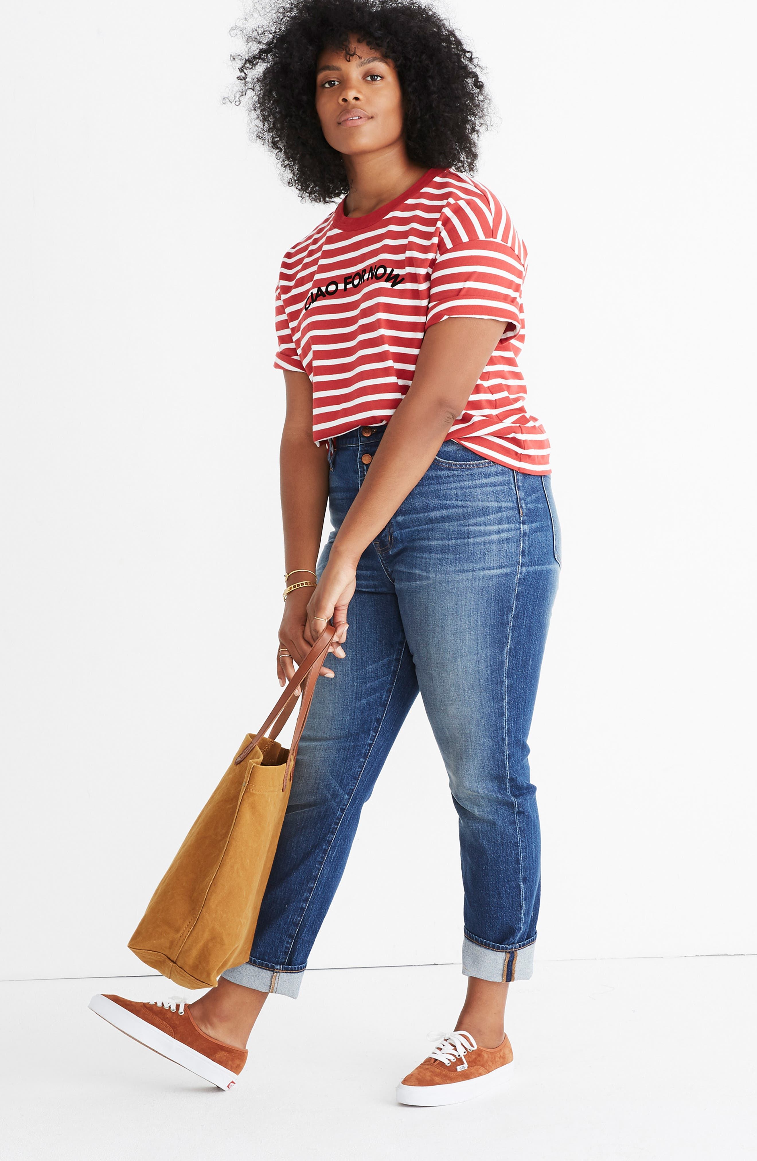 MADEWELL,                             Stripe Ciao for Now Tee,                             Alternate thumbnail 9, color,                             600