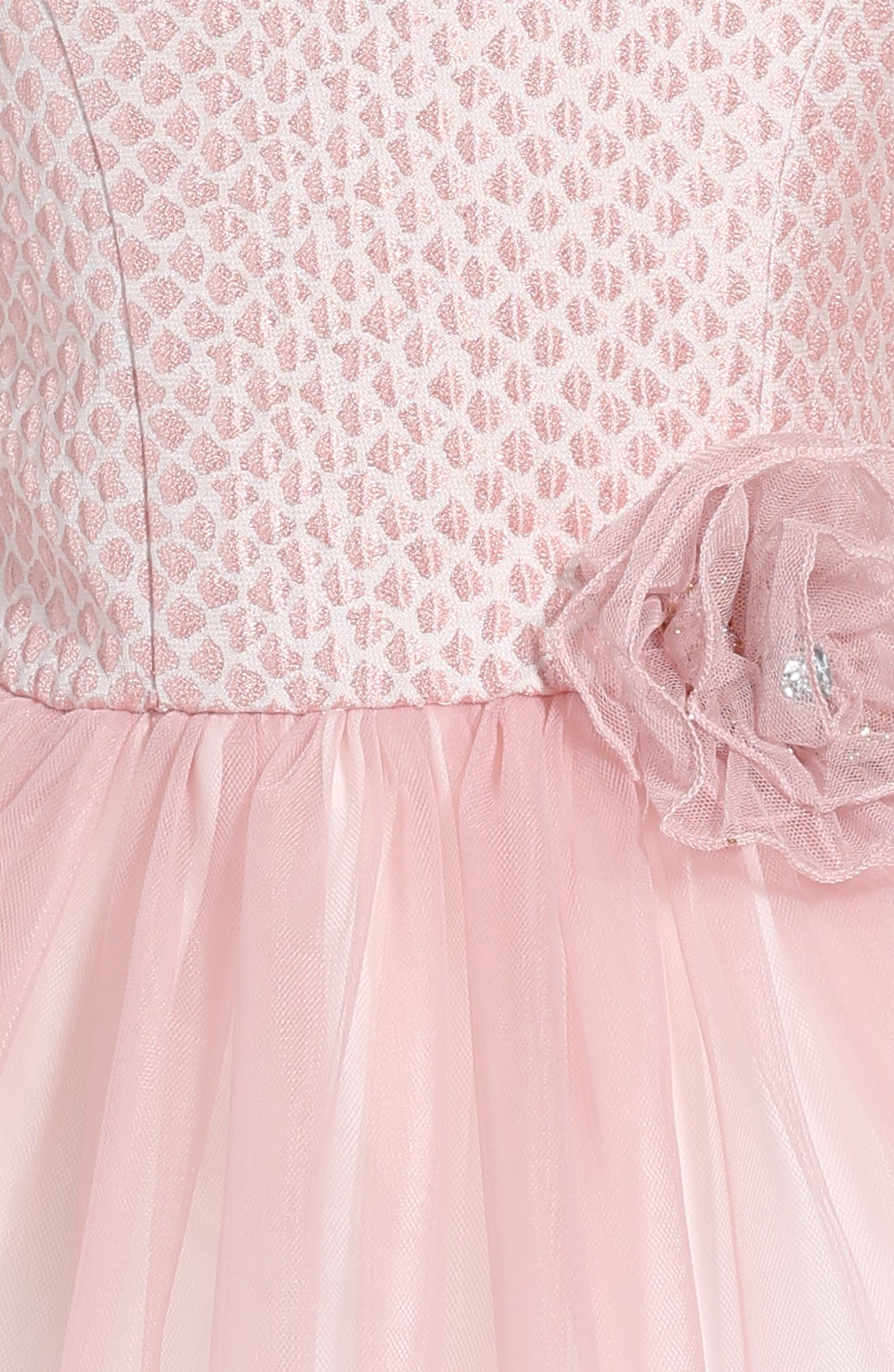 Brocade & Tulle Dress,                             Alternate thumbnail 3, color,                             650