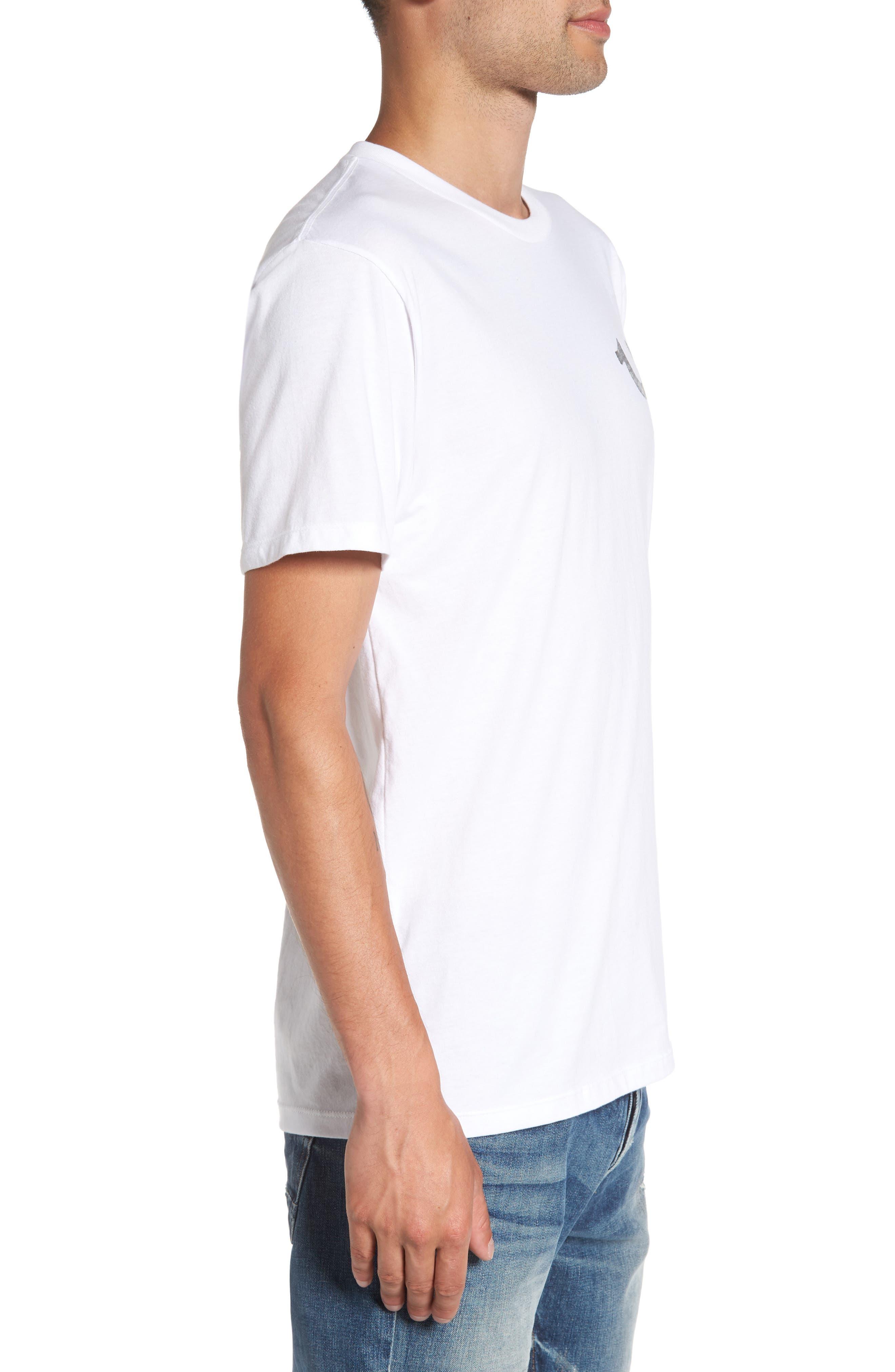 True Religion Silver Buddha T-Shirt,                             Alternate thumbnail 8, color,