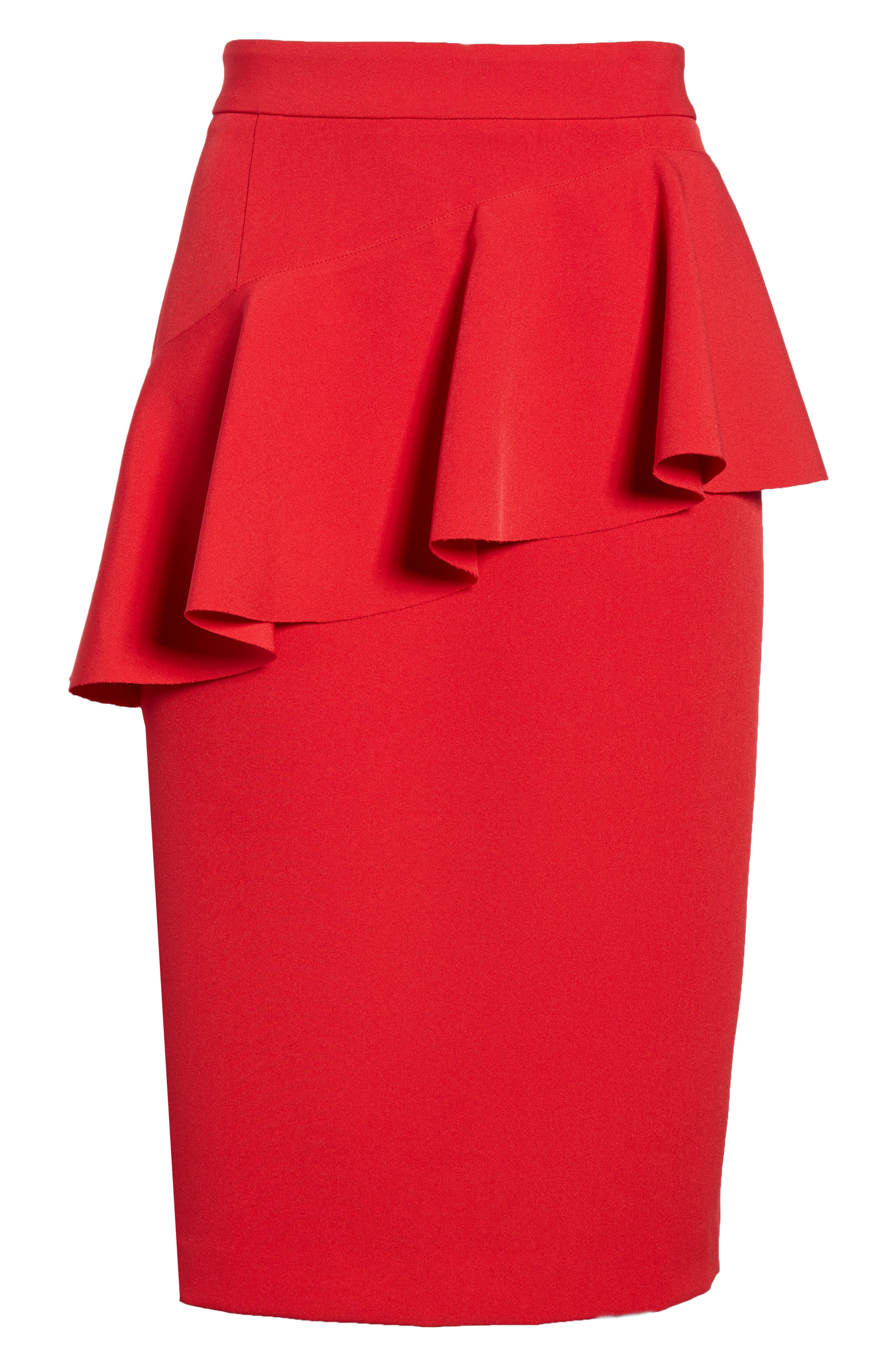 Ruffle Detail Pencil Skirt,                             Alternate thumbnail 12, color,