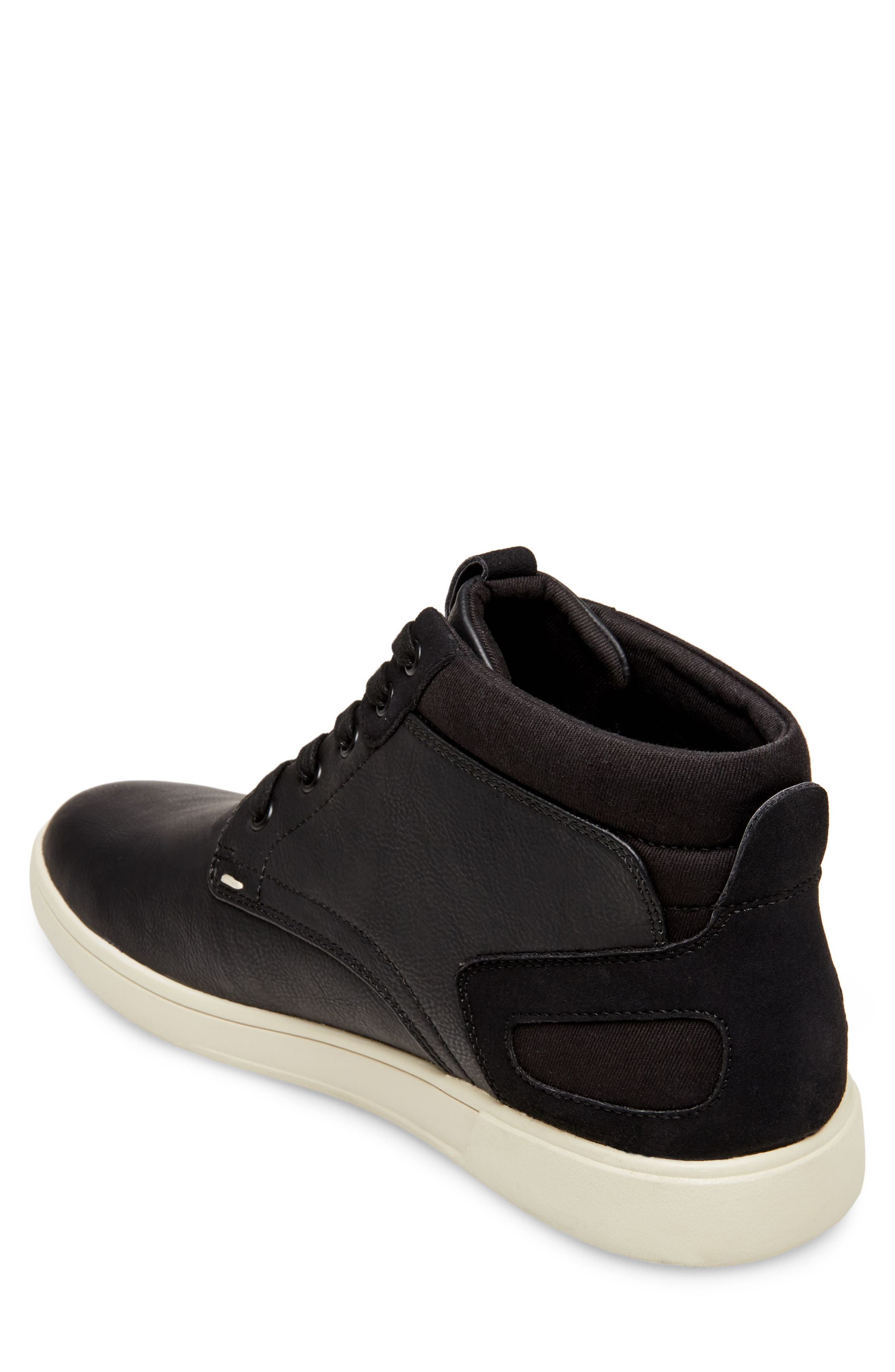 Forsyth High Top Sneaker,                             Alternate thumbnail 2, color,                             BLACK LEATHER