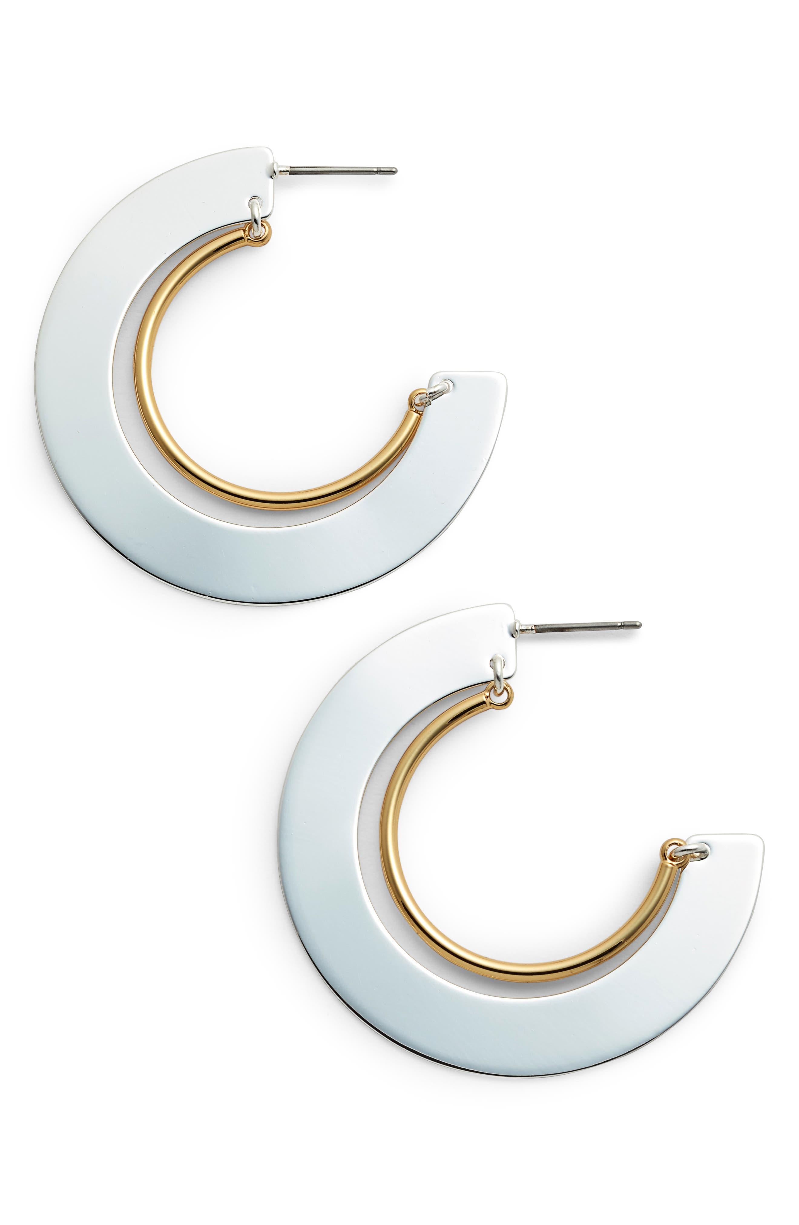 Uma Nested Hoop Earrings,                             Main thumbnail 1, color,                             TWO-TONE