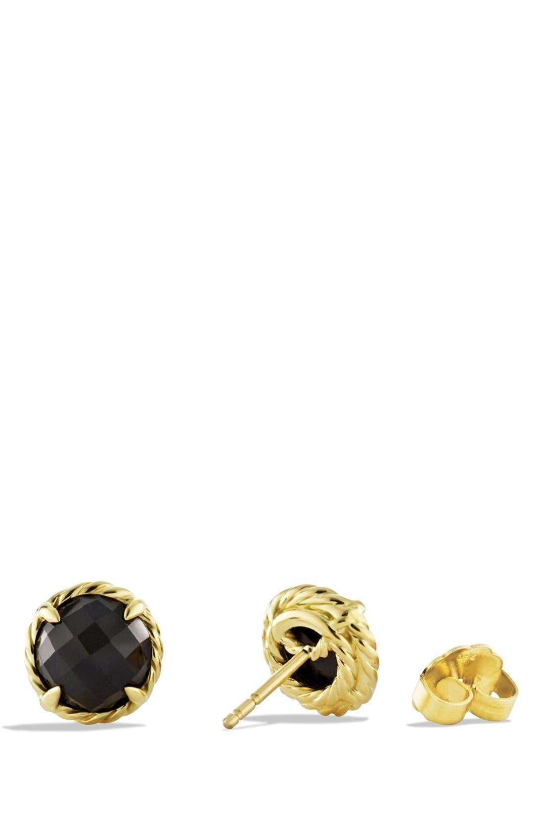 'Châtelaine' Earrings,                             Alternate thumbnail 3, color,                             BLACK ONYX