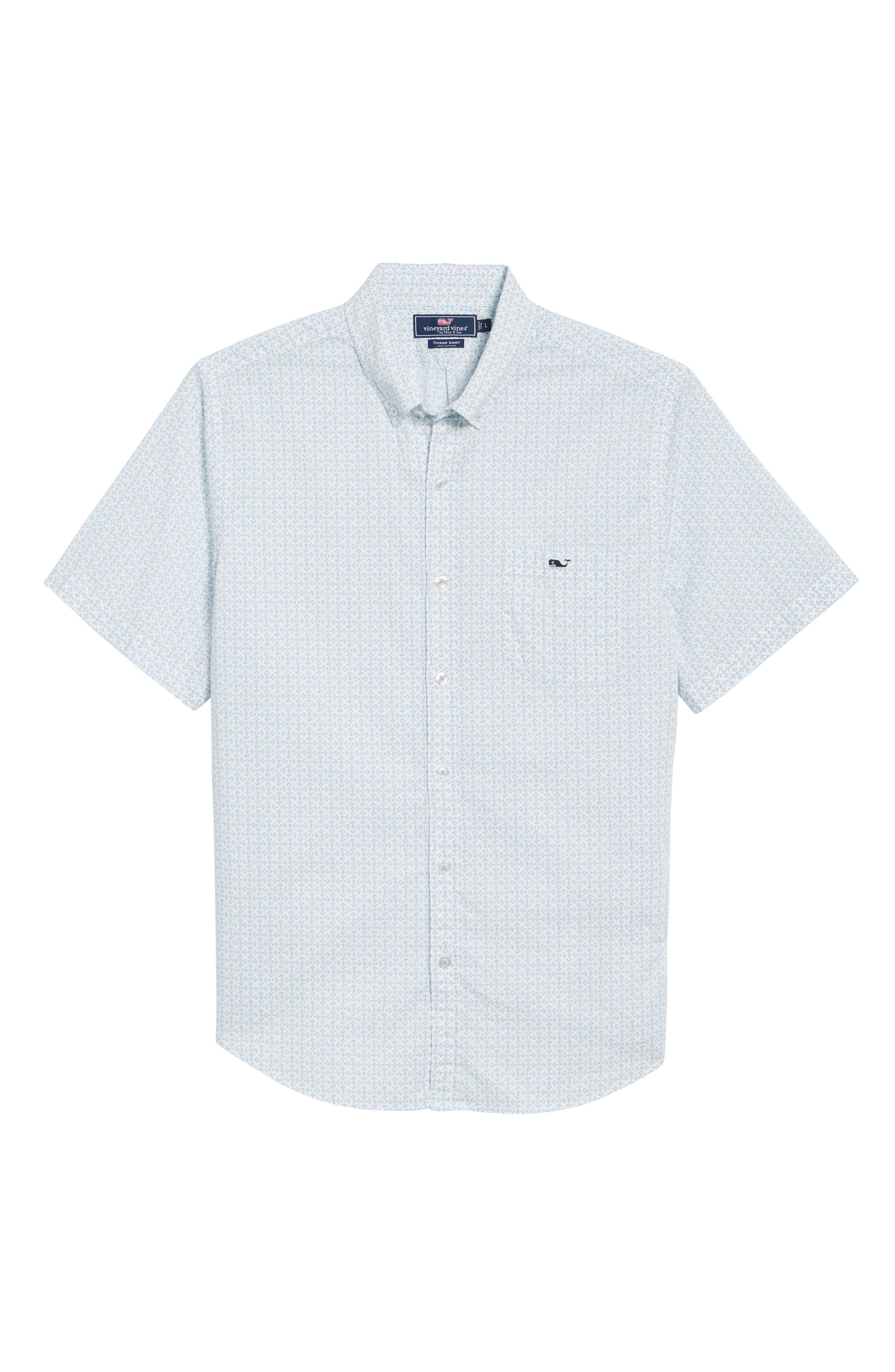 Fish Check Tucker Slim Fit Sport Shirt,                             Alternate thumbnail 6, color,                             100