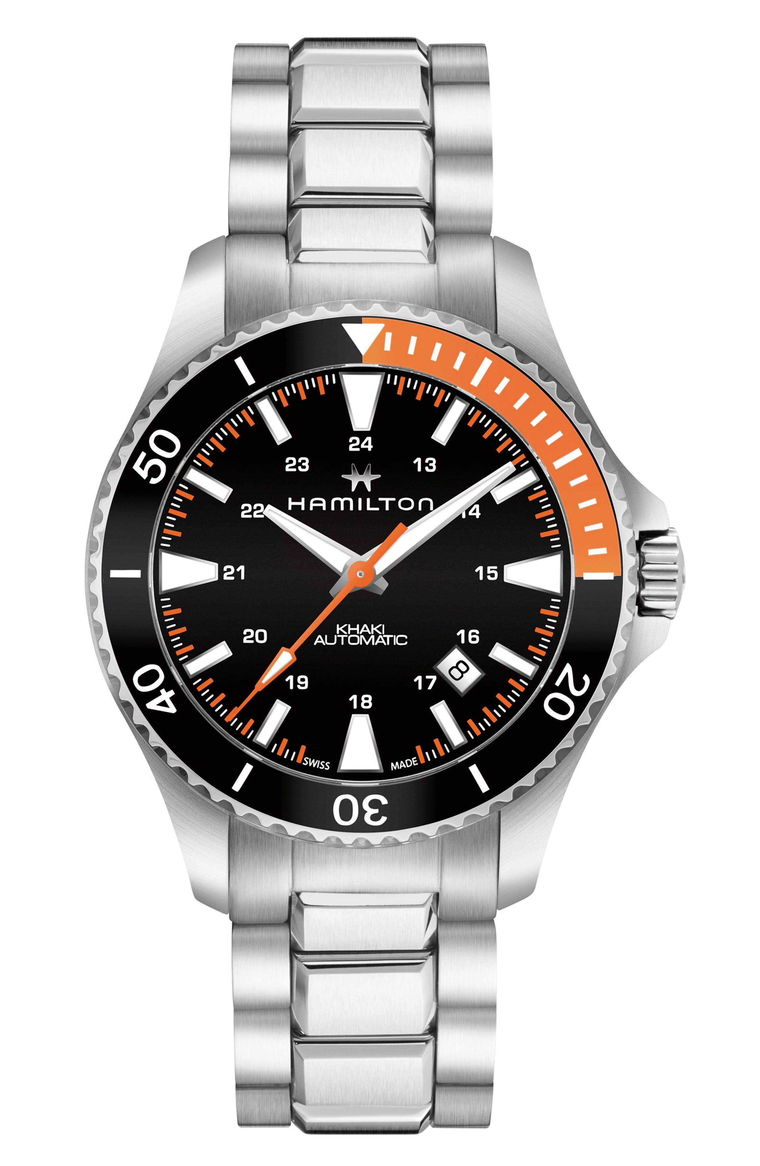 Khaki Automatic Bracelet Watch, 40mm,                         Main,                         color, NO_COLOR