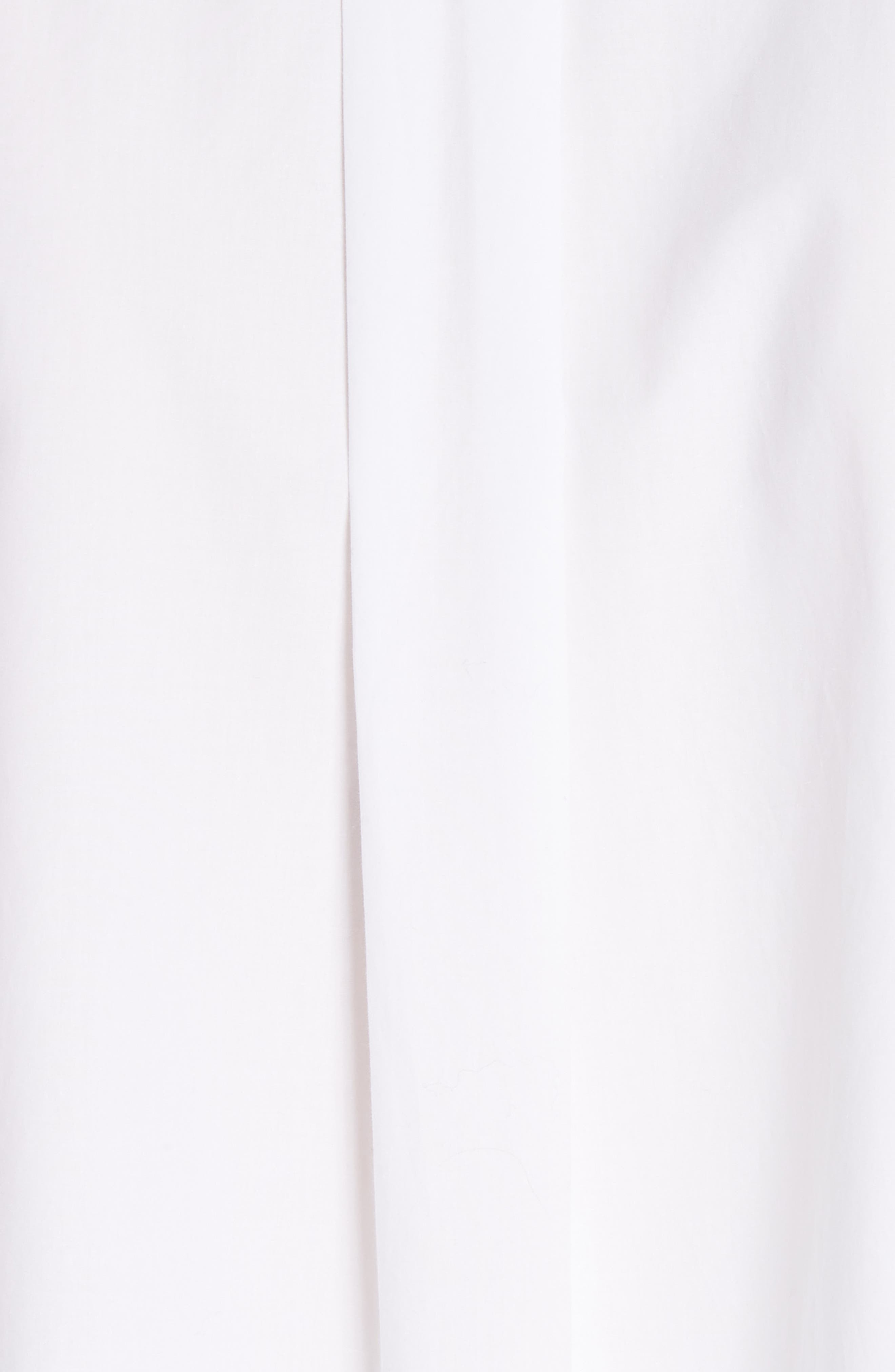 Lysanne Poplin Shirt,                             Alternate thumbnail 5, color,                             100