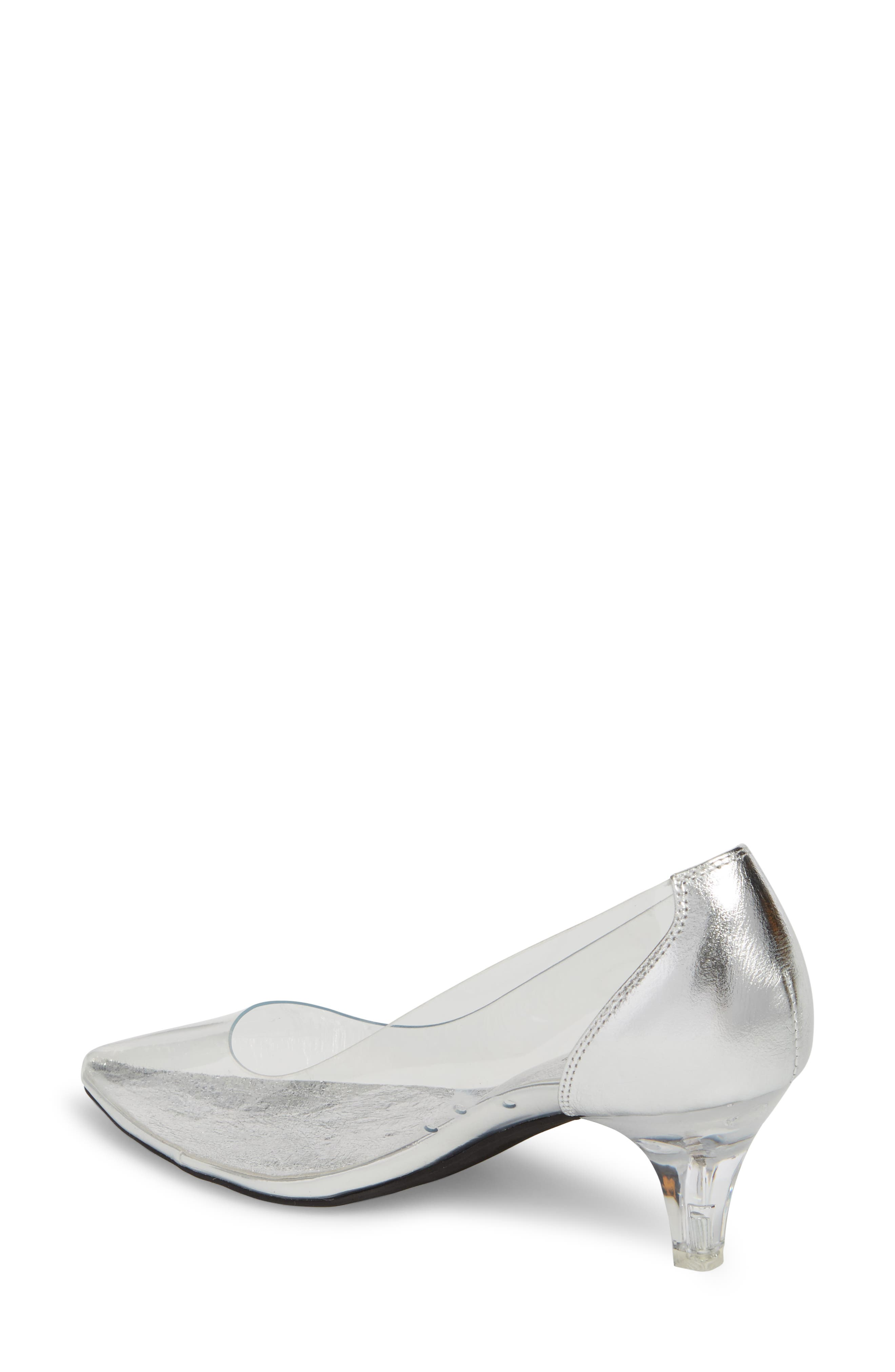 Gracienne Transparent Pump,                             Alternate thumbnail 2, color,                             CLEAR/ SILVER LEATHER