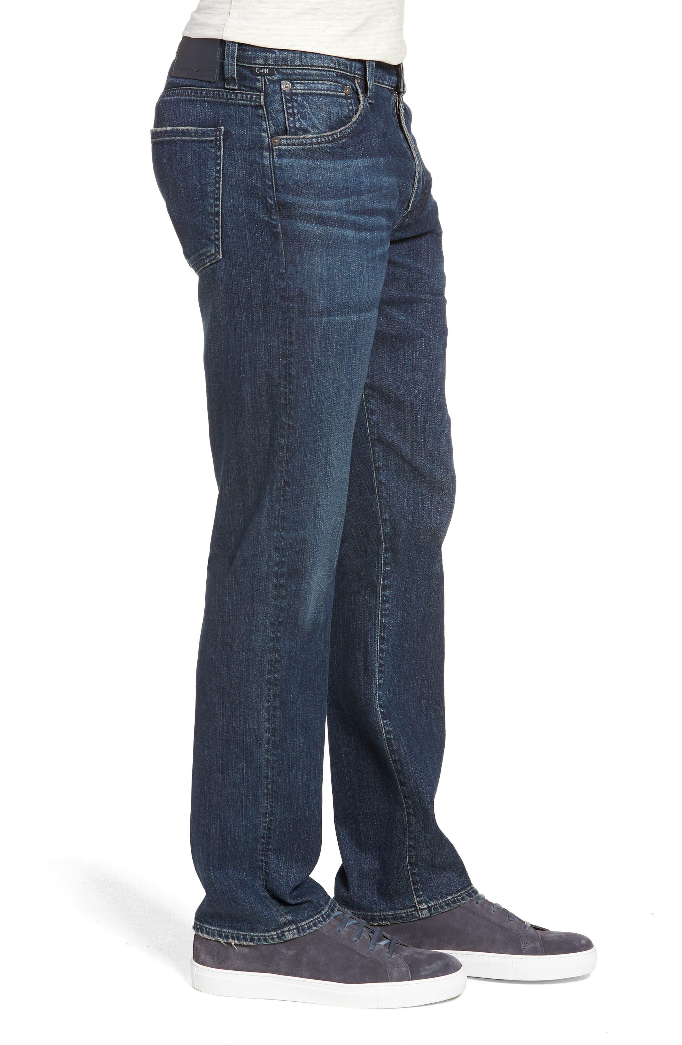 Sid Straight Leg Jeans,                             Alternate thumbnail 3, color,                             BLAZE