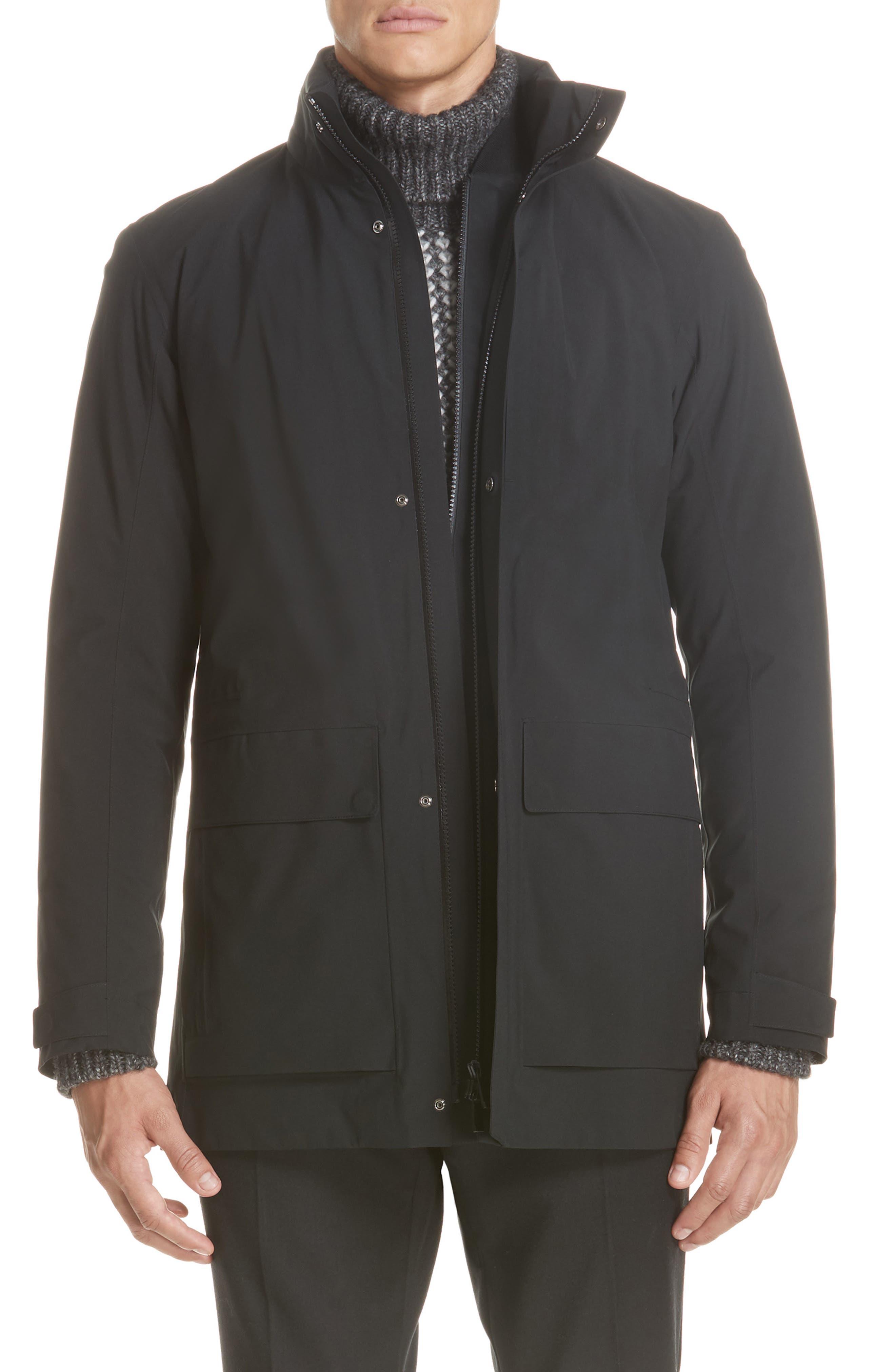Z Zenga Trim Fit 3-in-1 Jacket,                             Main thumbnail 1, color,                             BLACK