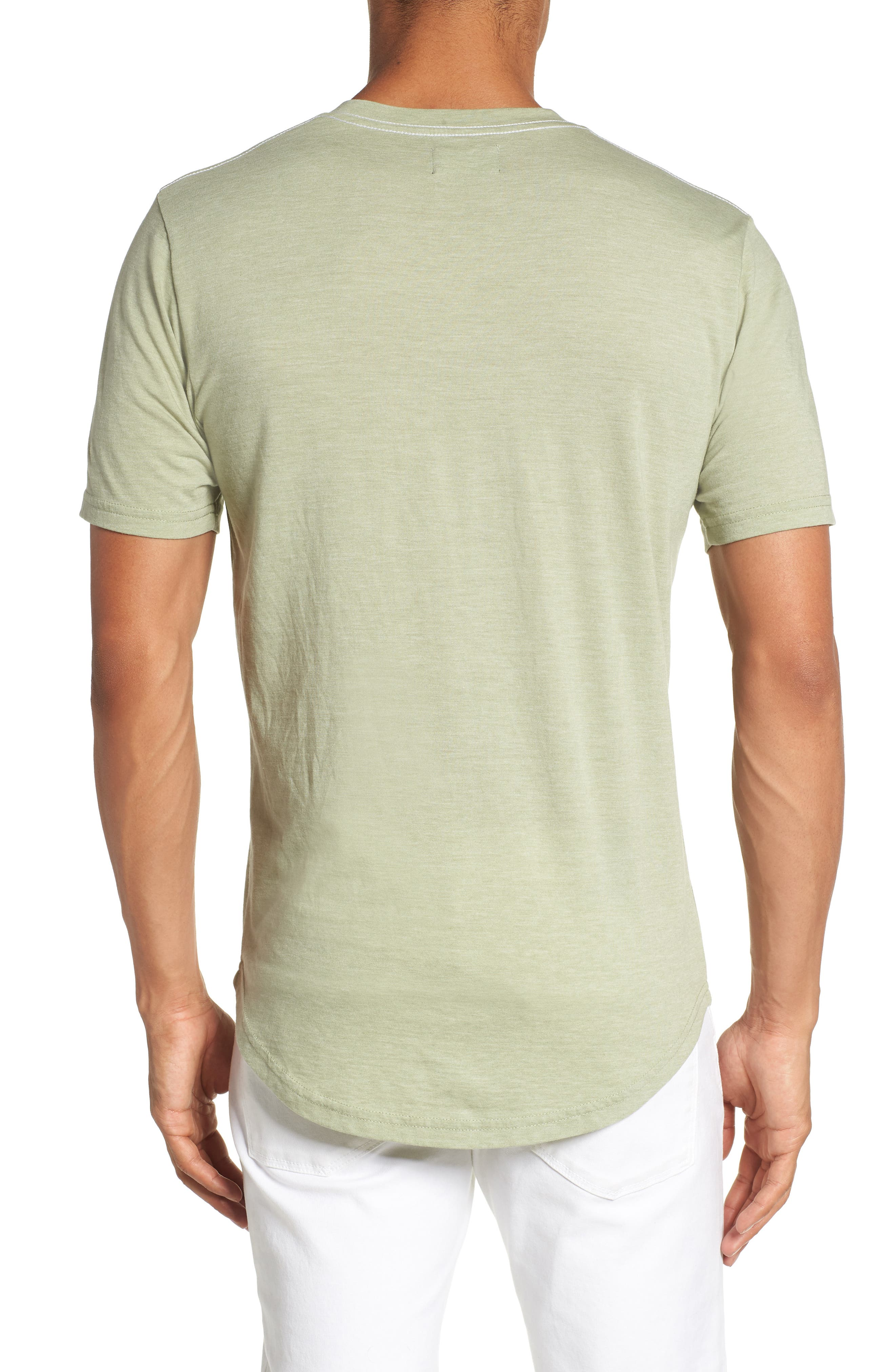 Scallop Triblend V-Neck T-Shirt,                             Alternate thumbnail 27, color,