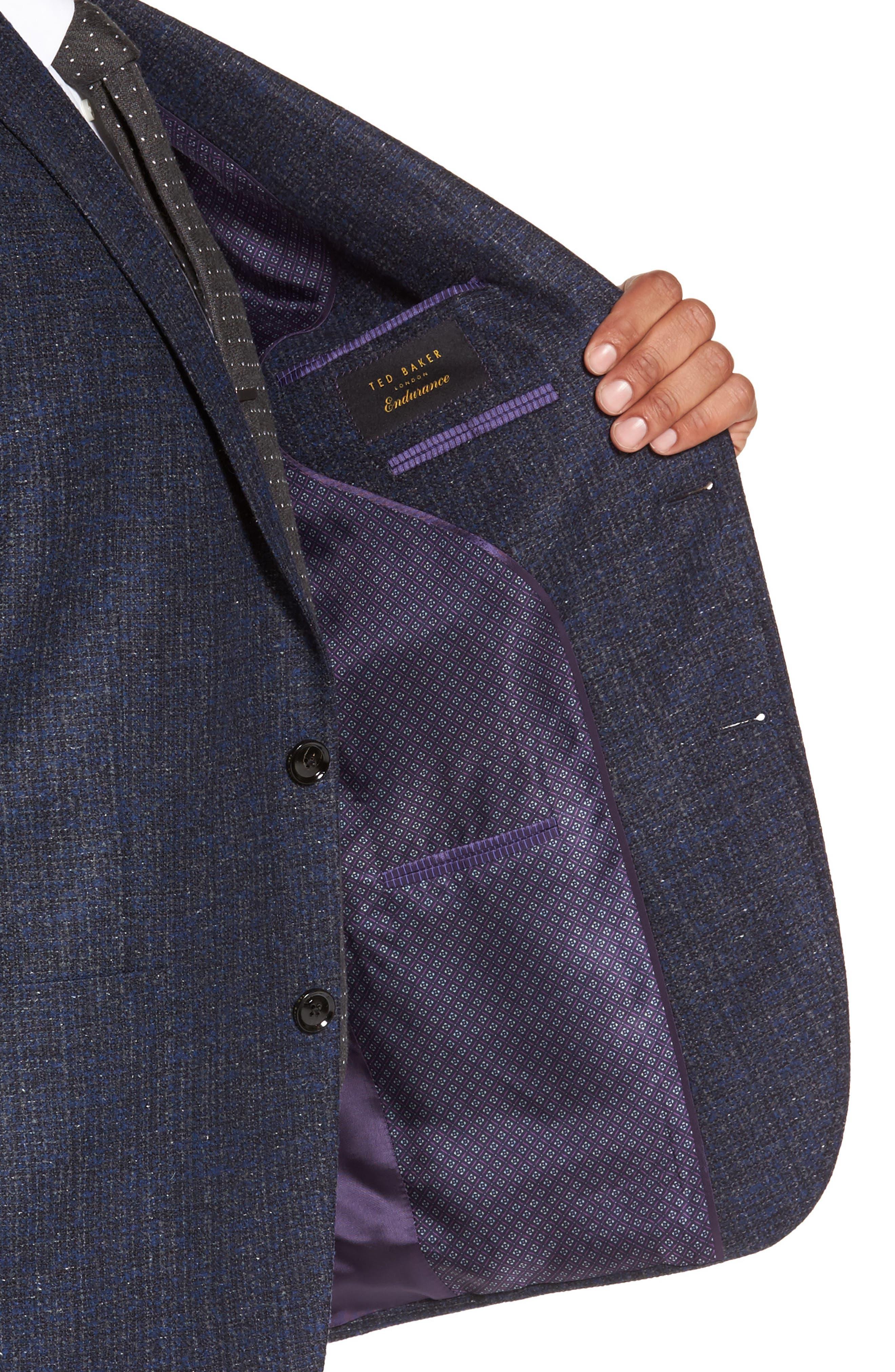 Kyle Trim Fit Wool Blend Blazer,                             Alternate thumbnail 4, color,                             400