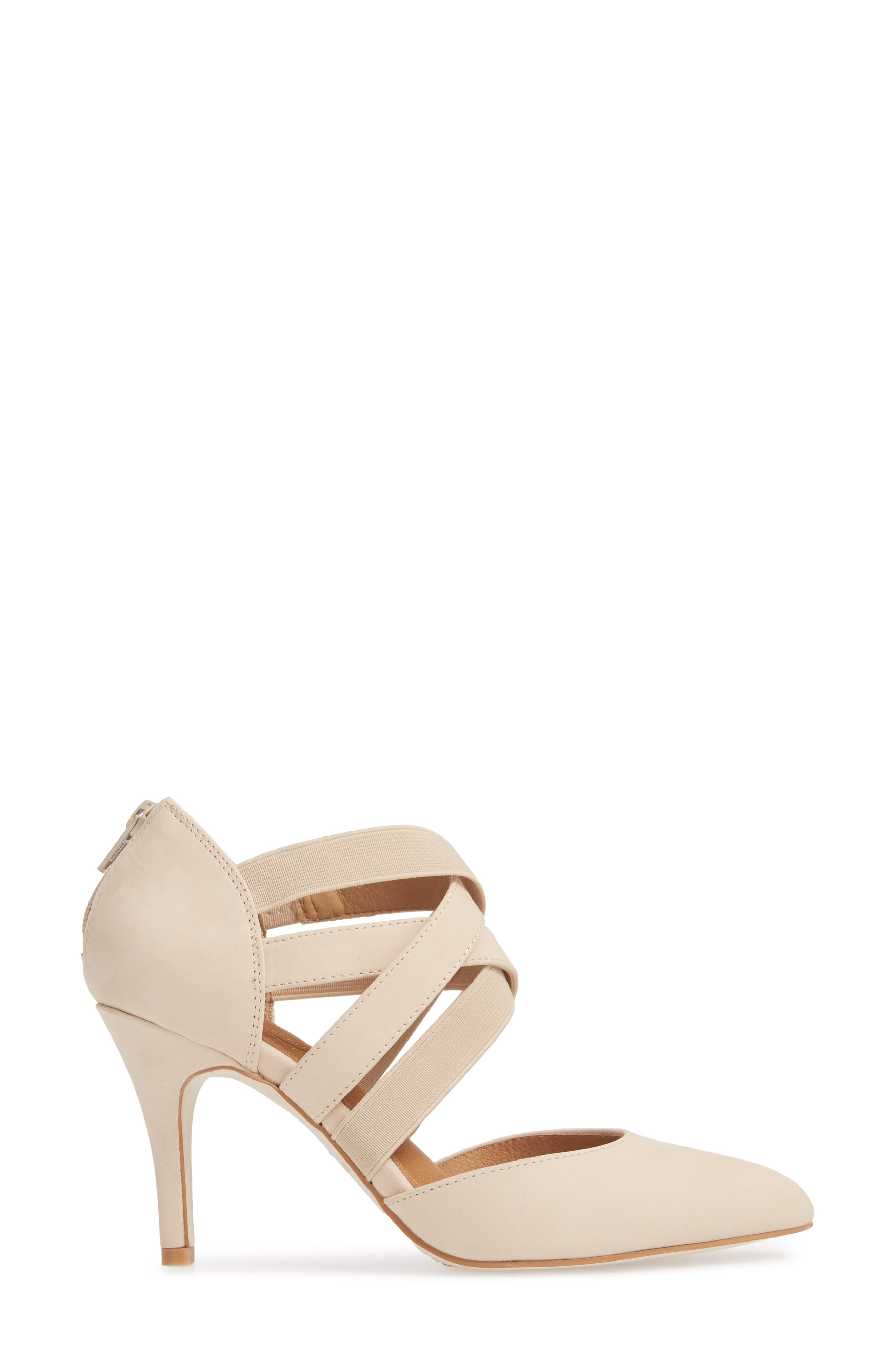 Crystal Strappy Pump,                             Alternate thumbnail 3, color,                             NUDE NUBUCK
