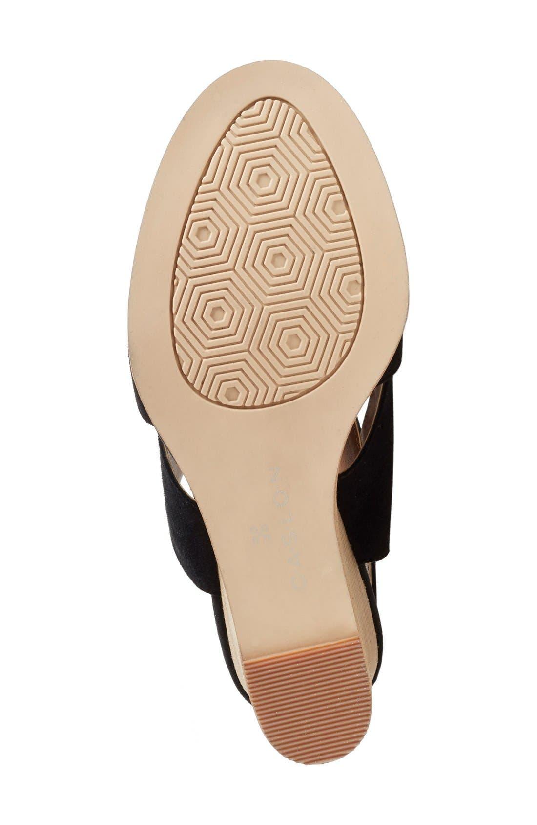 Caslon 'Hallie' Sandal,                             Alternate thumbnail 3, color,                             001
