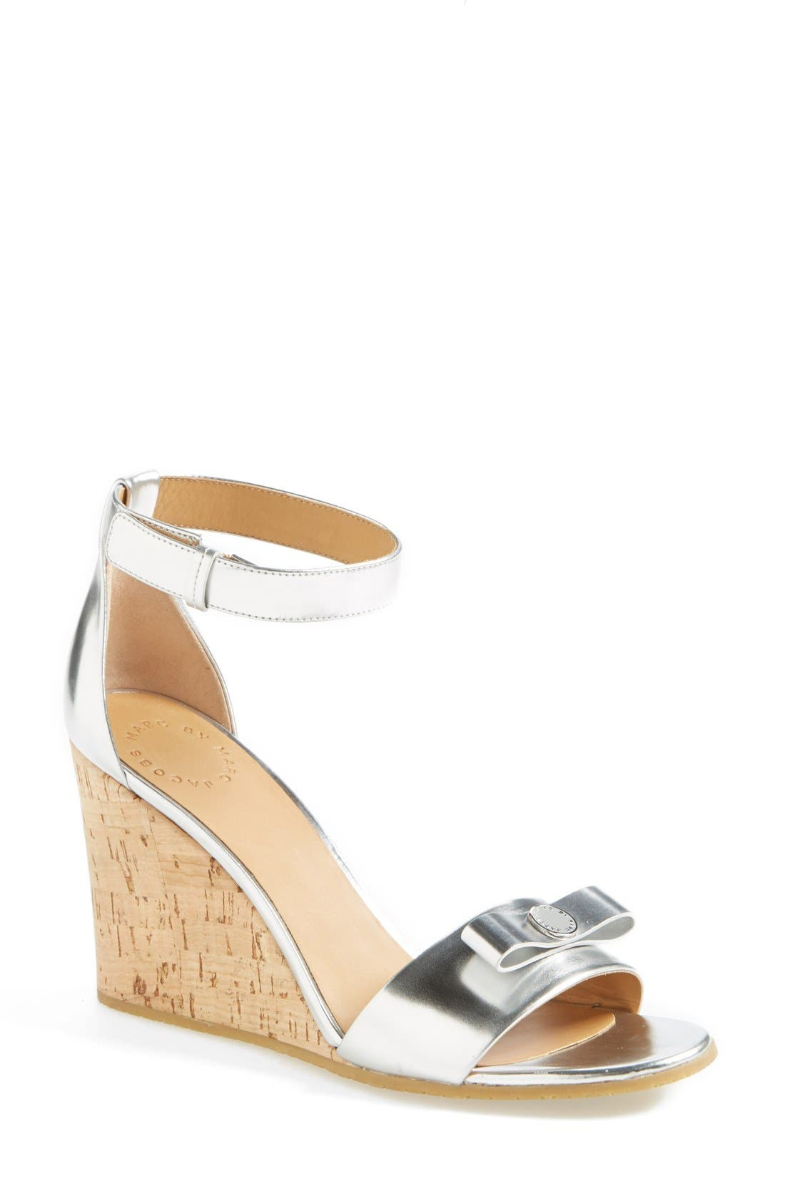 MARC BY MARC JACOBS 'Logo Disc' Sandal,                             Main thumbnail 1, color,                             040