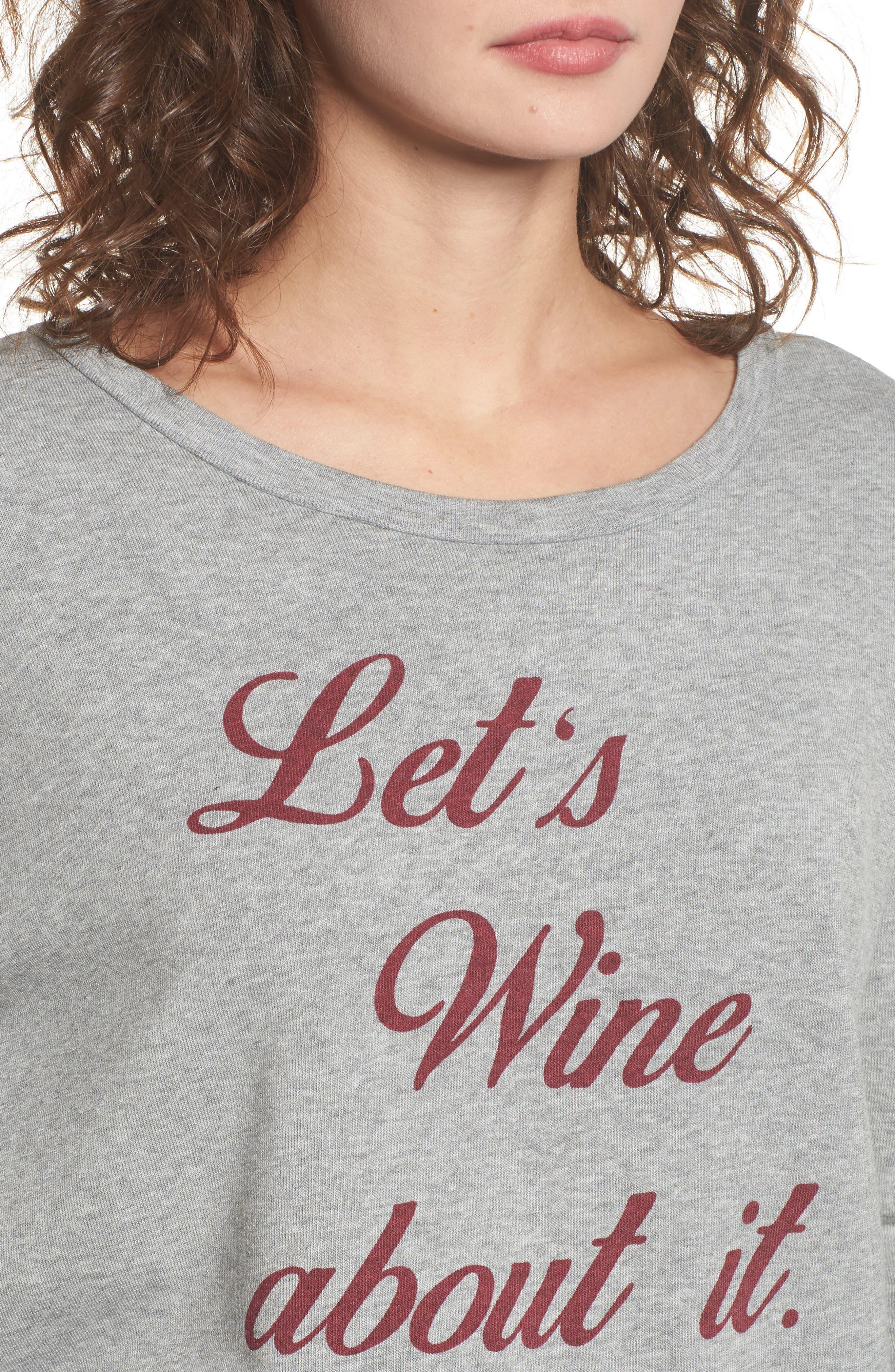 Let's Wine about It Sweatshirt,                             Alternate thumbnail 4, color,                             020