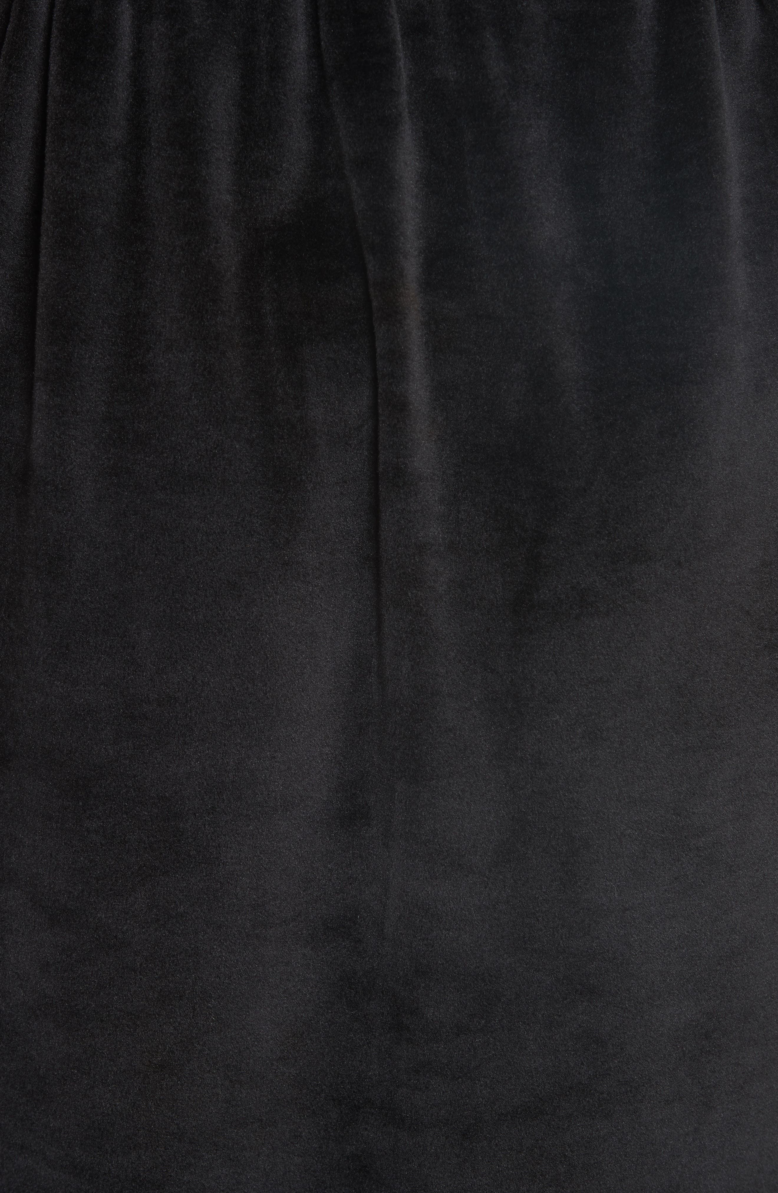 Velour Hoodie Dress,                             Alternate thumbnail 5, color,                             BLACK