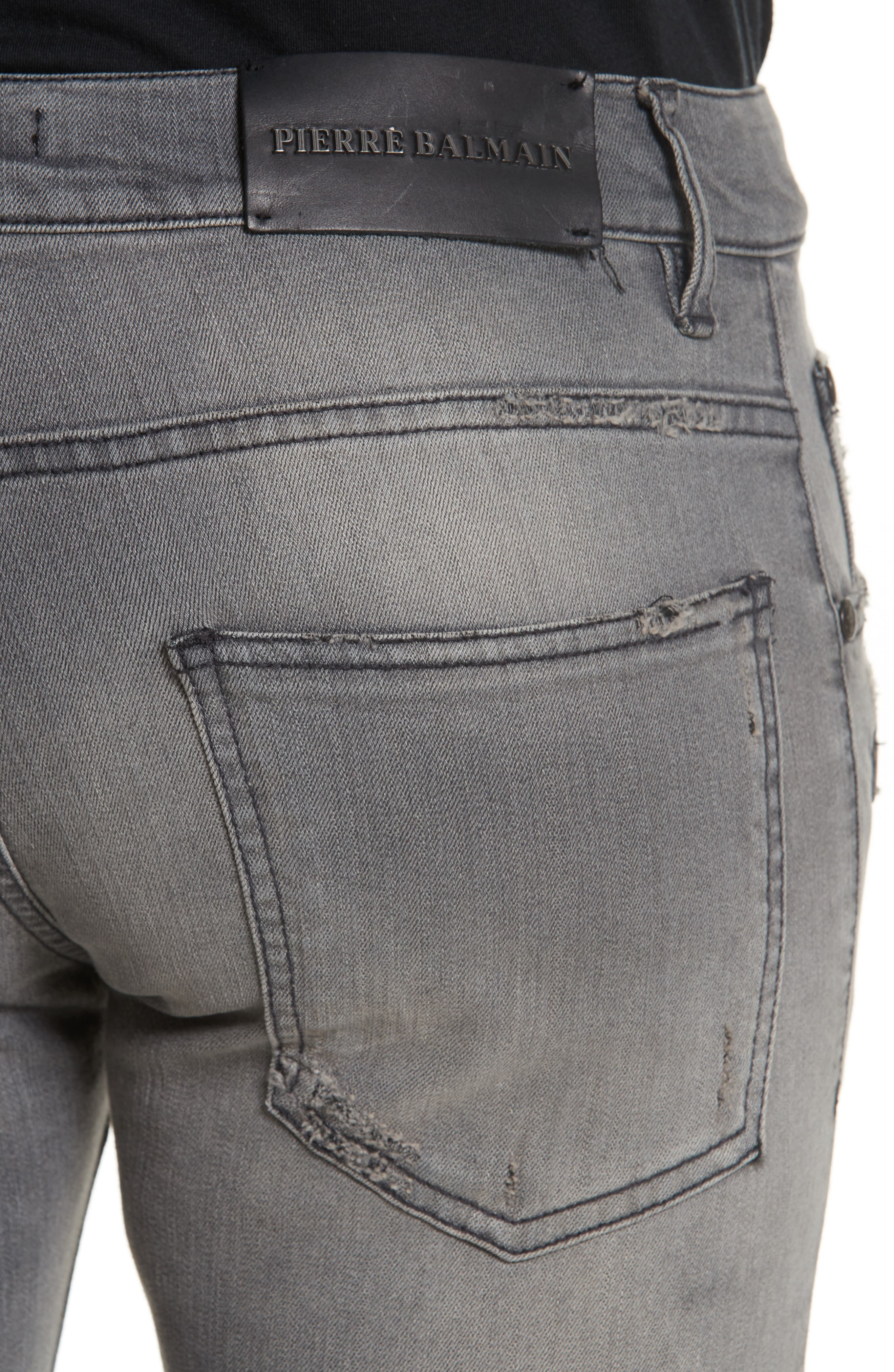 Distressed Moto Jeans,                             Alternate thumbnail 2, color,