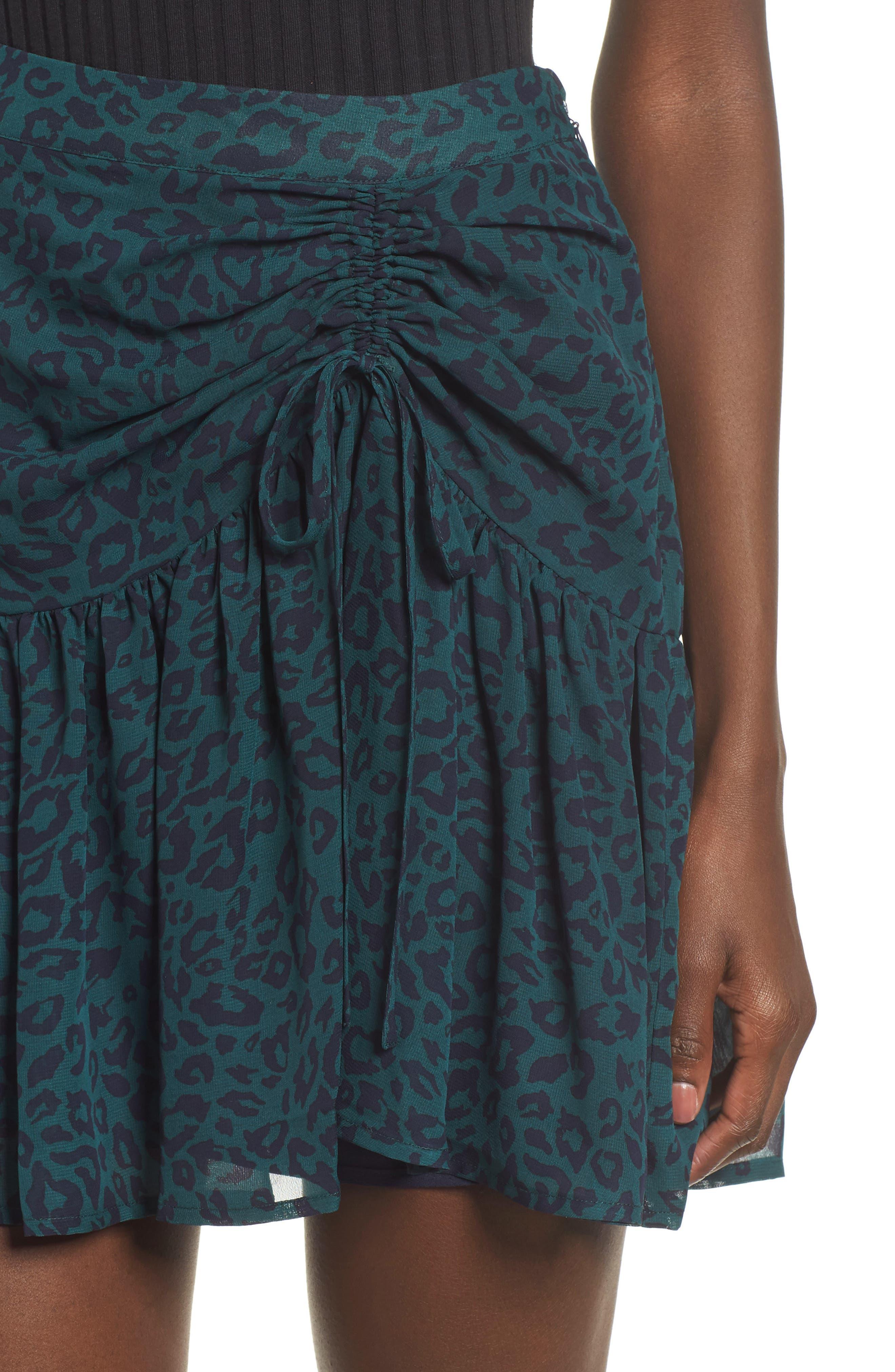 Ruched Ruffle Miniskirt,                             Alternate thumbnail 4, color,                             300