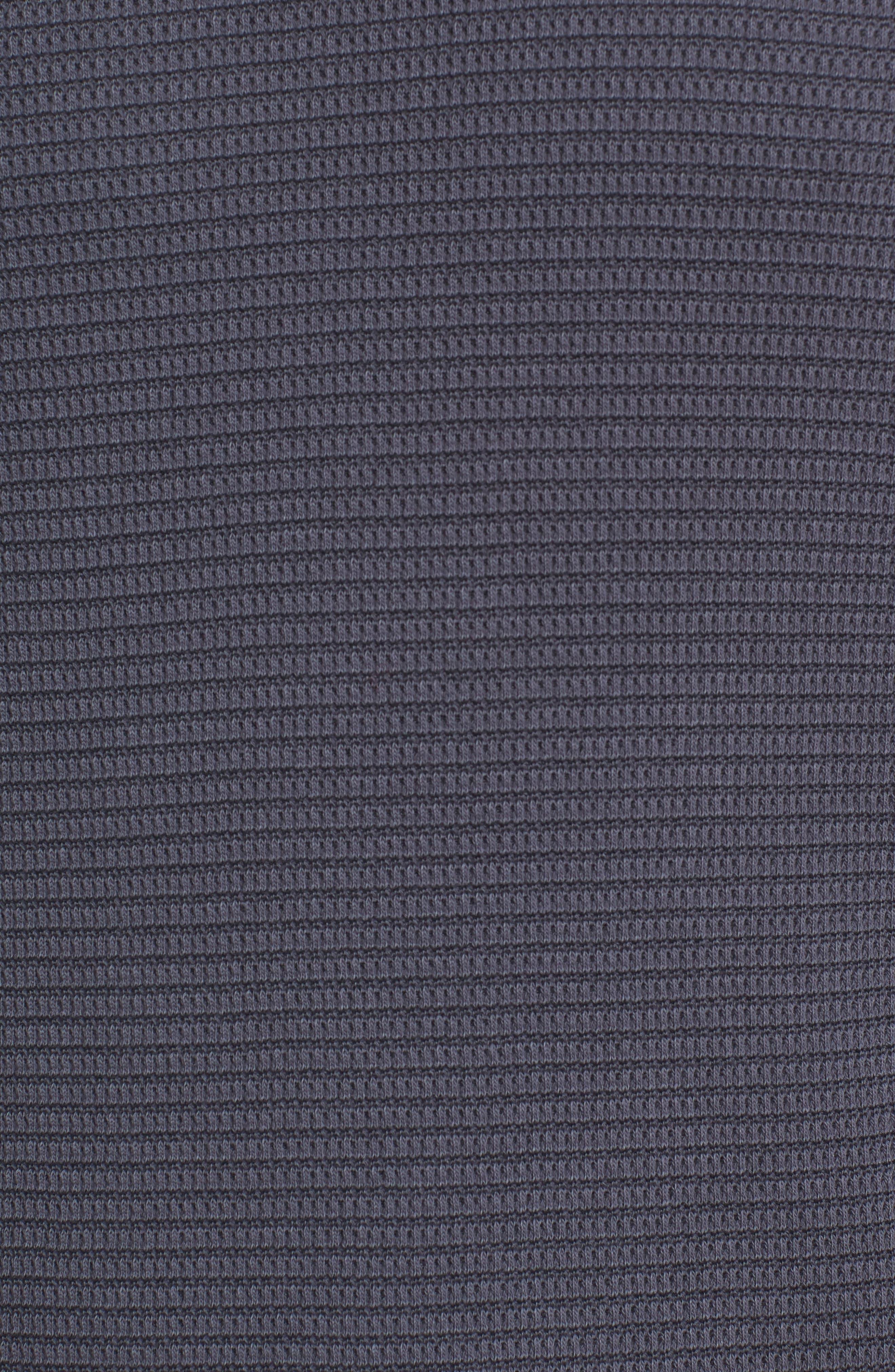 Regular Fit Waffle Knit Cotton Blend Crewneck T-Shirt,                             Alternate thumbnail 5, color,                             TITANIUM