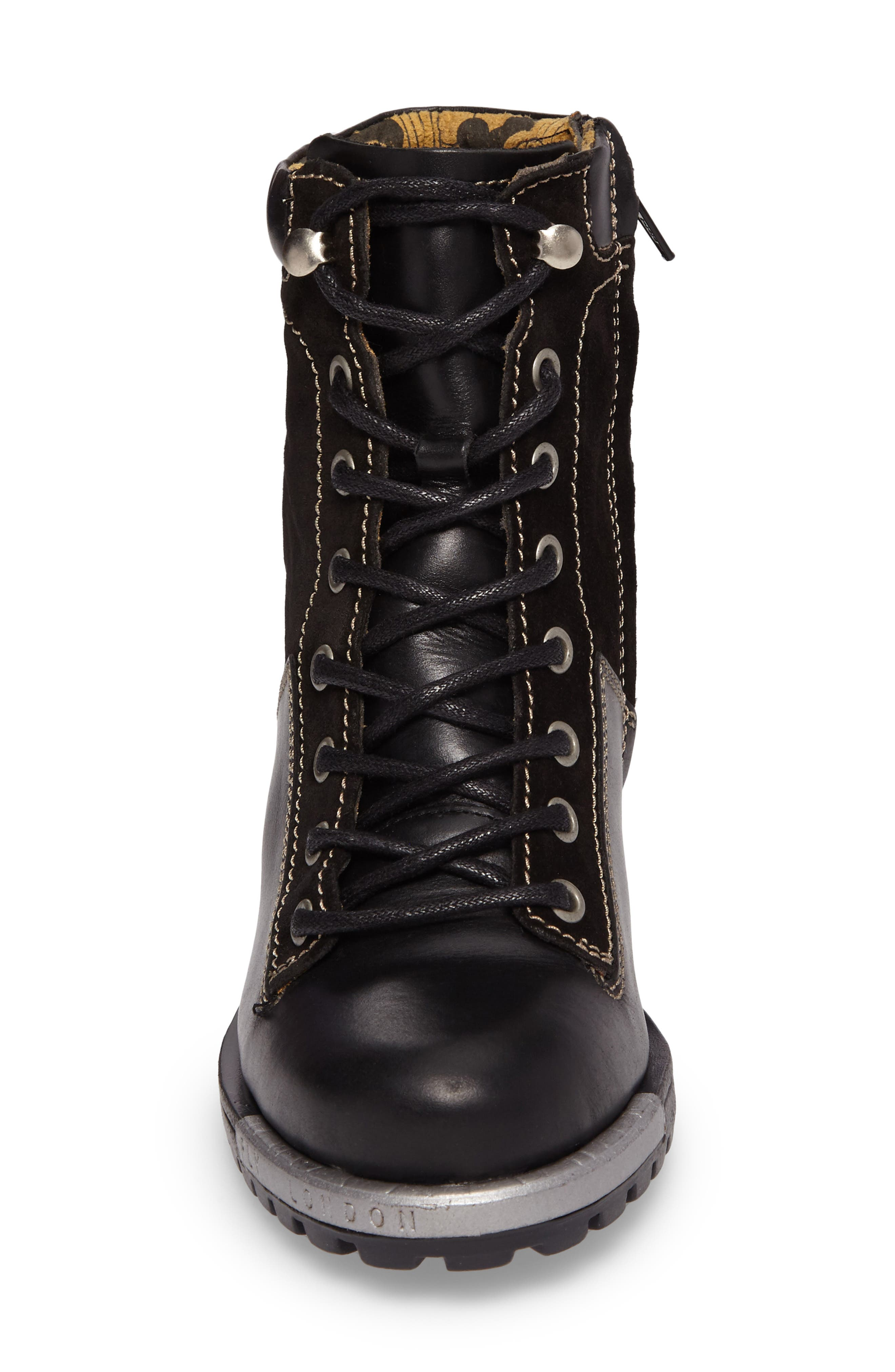 FLY LONDON,                             'Leal' Boot,                             Alternate thumbnail 4, color,                             005
