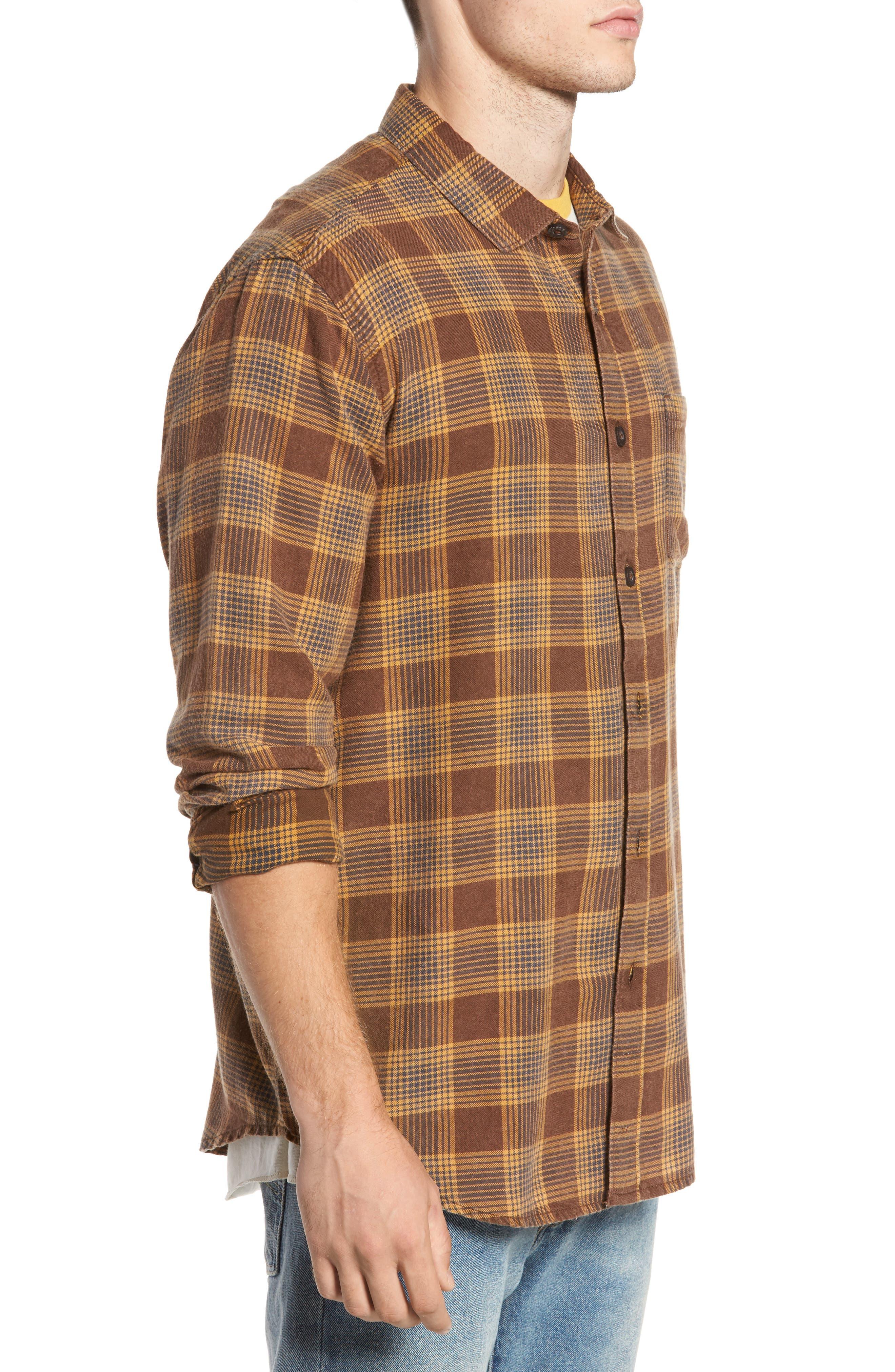 Freemont Flannel Shirt,                             Alternate thumbnail 3, color,                             205