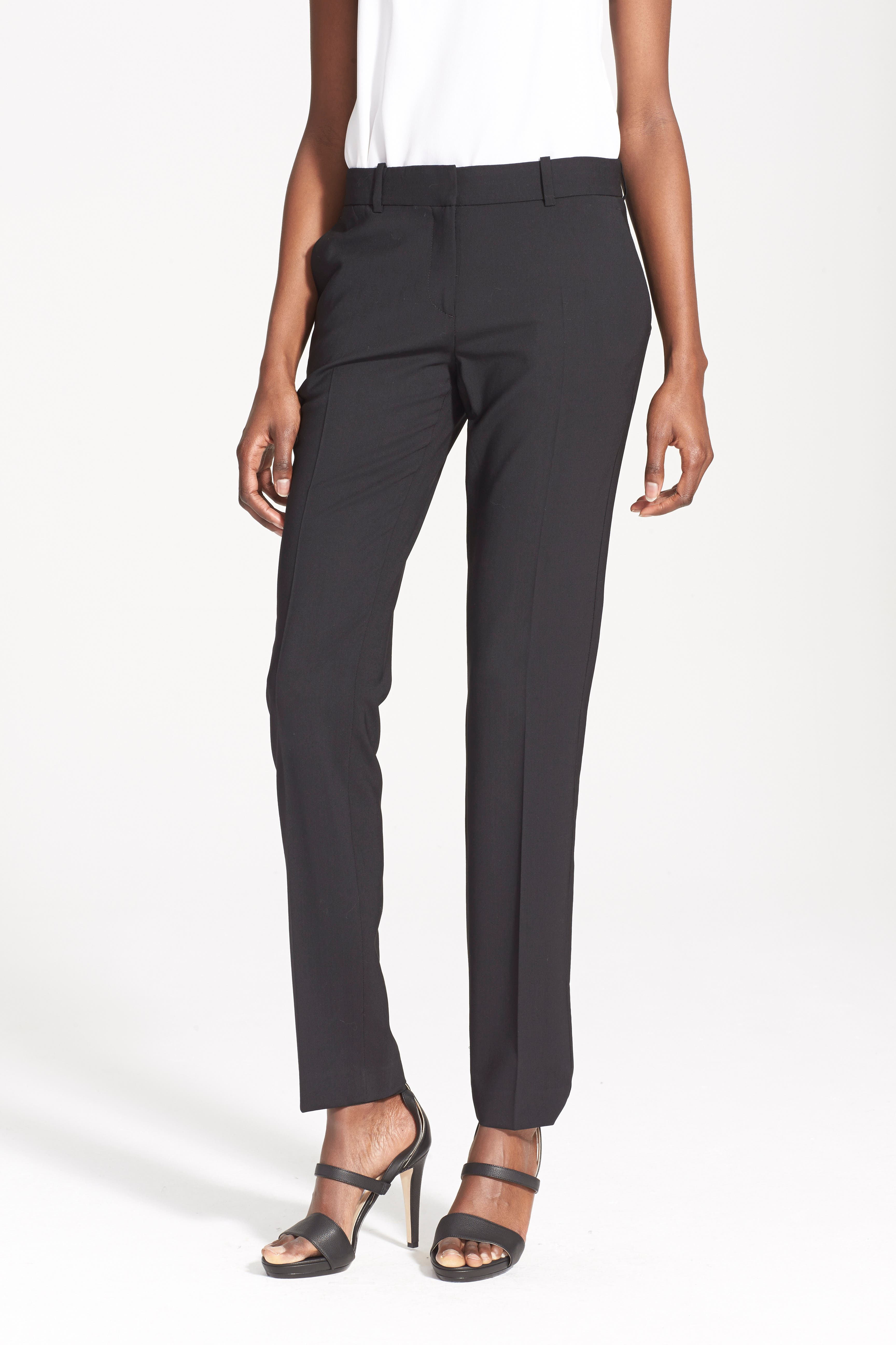 'Super Slim Edition' Stretch Wool Pants,                             Alternate thumbnail 3, color,                             001
