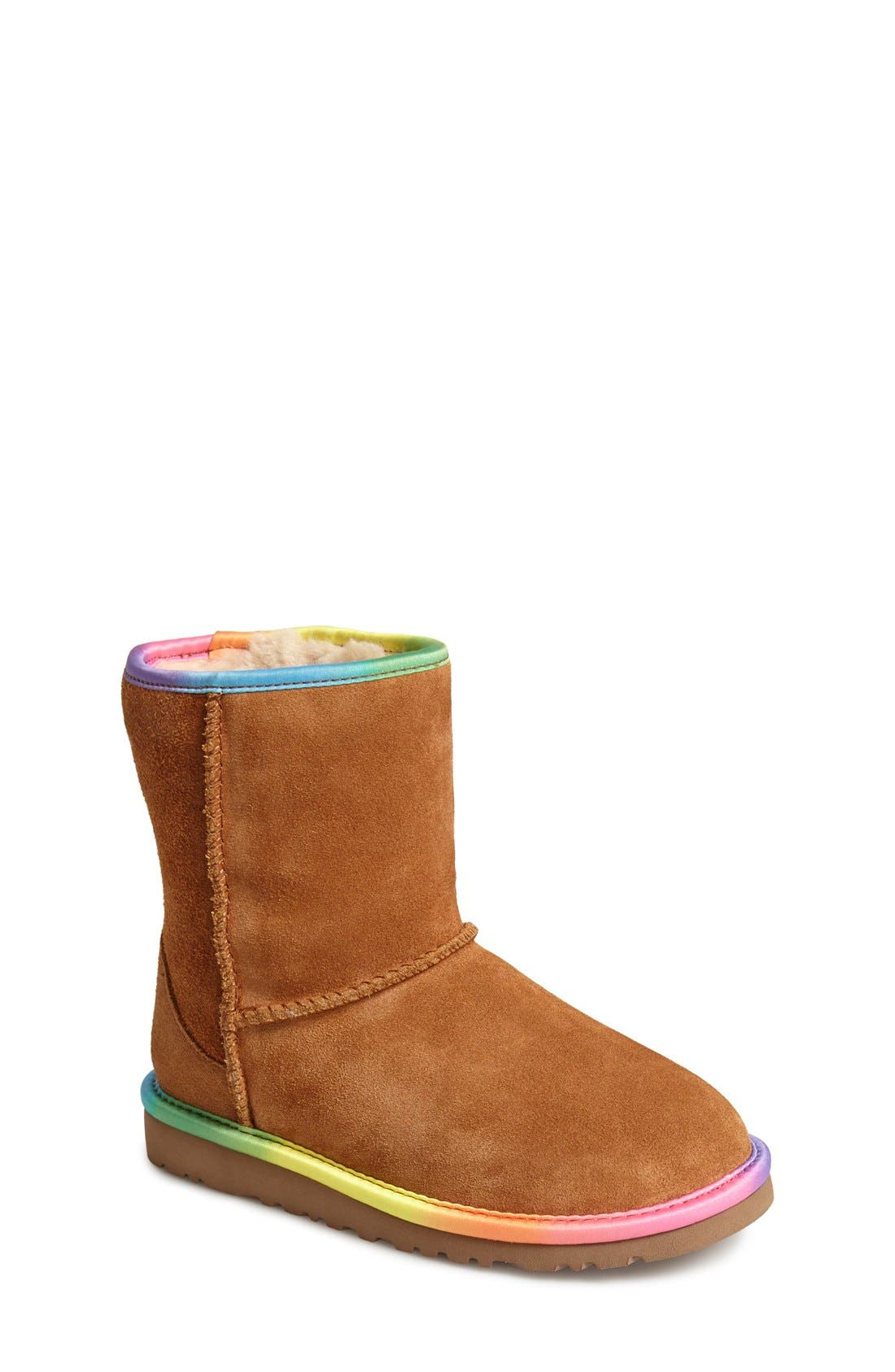 Australia 'Classic Short' Rainbow Boot, Main, color, 219