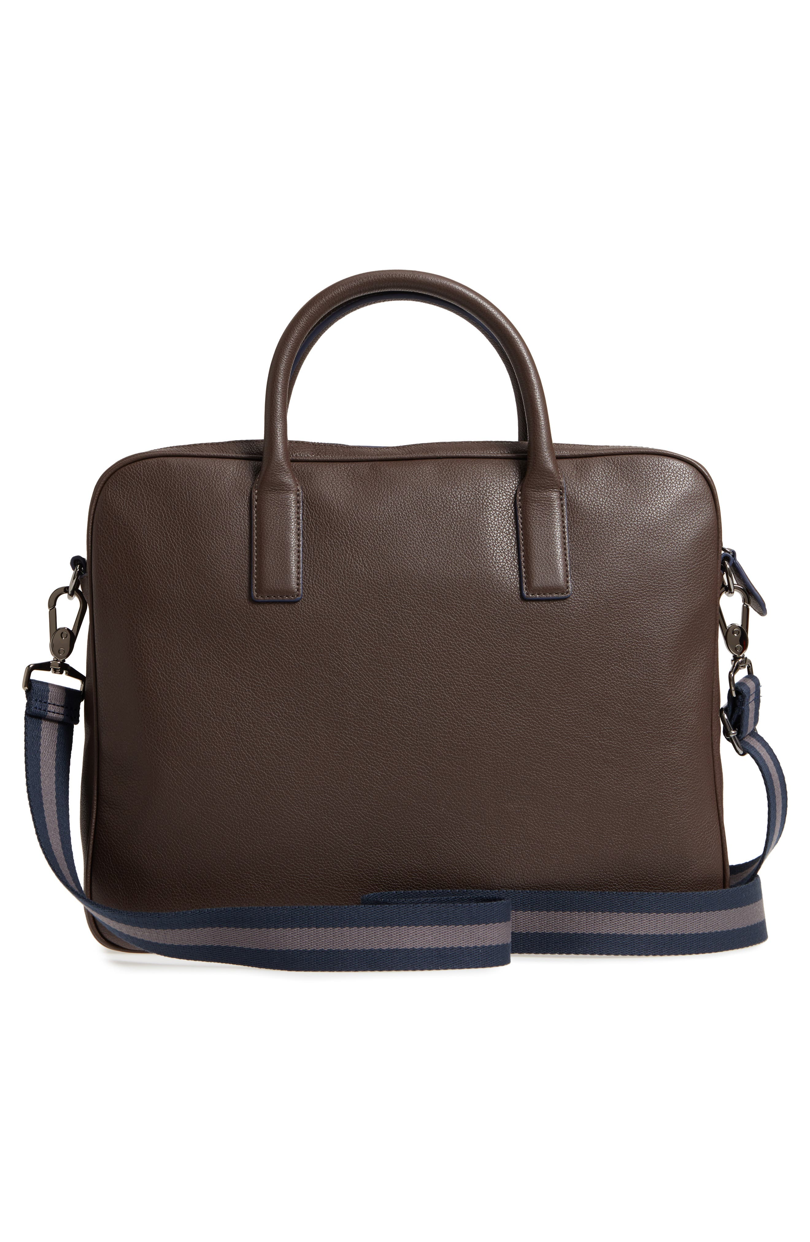 Lowmee Leather Briefcase,                             Alternate thumbnail 6, color,