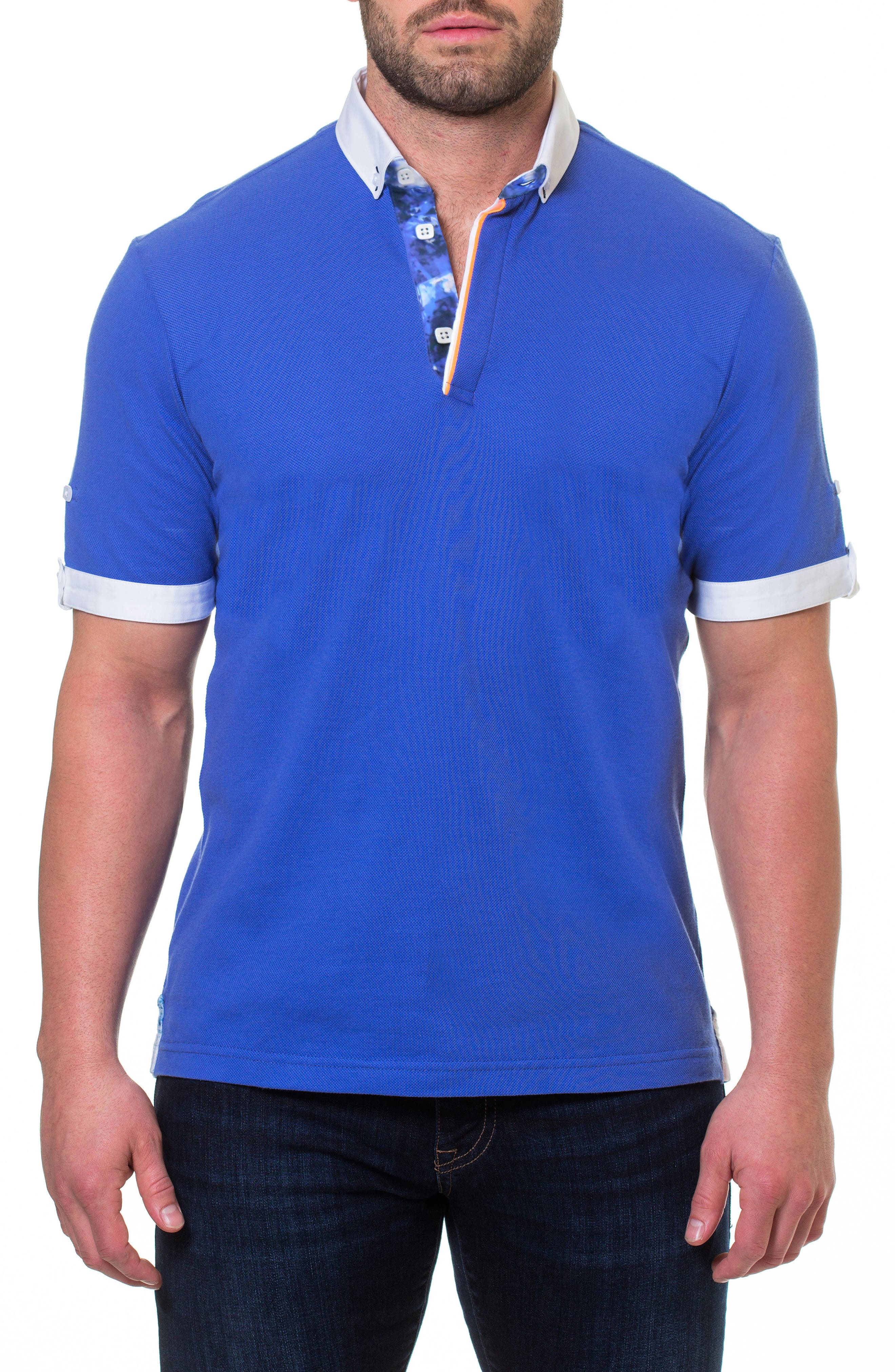 Piqué Polo,                         Main,                         color, BLUE