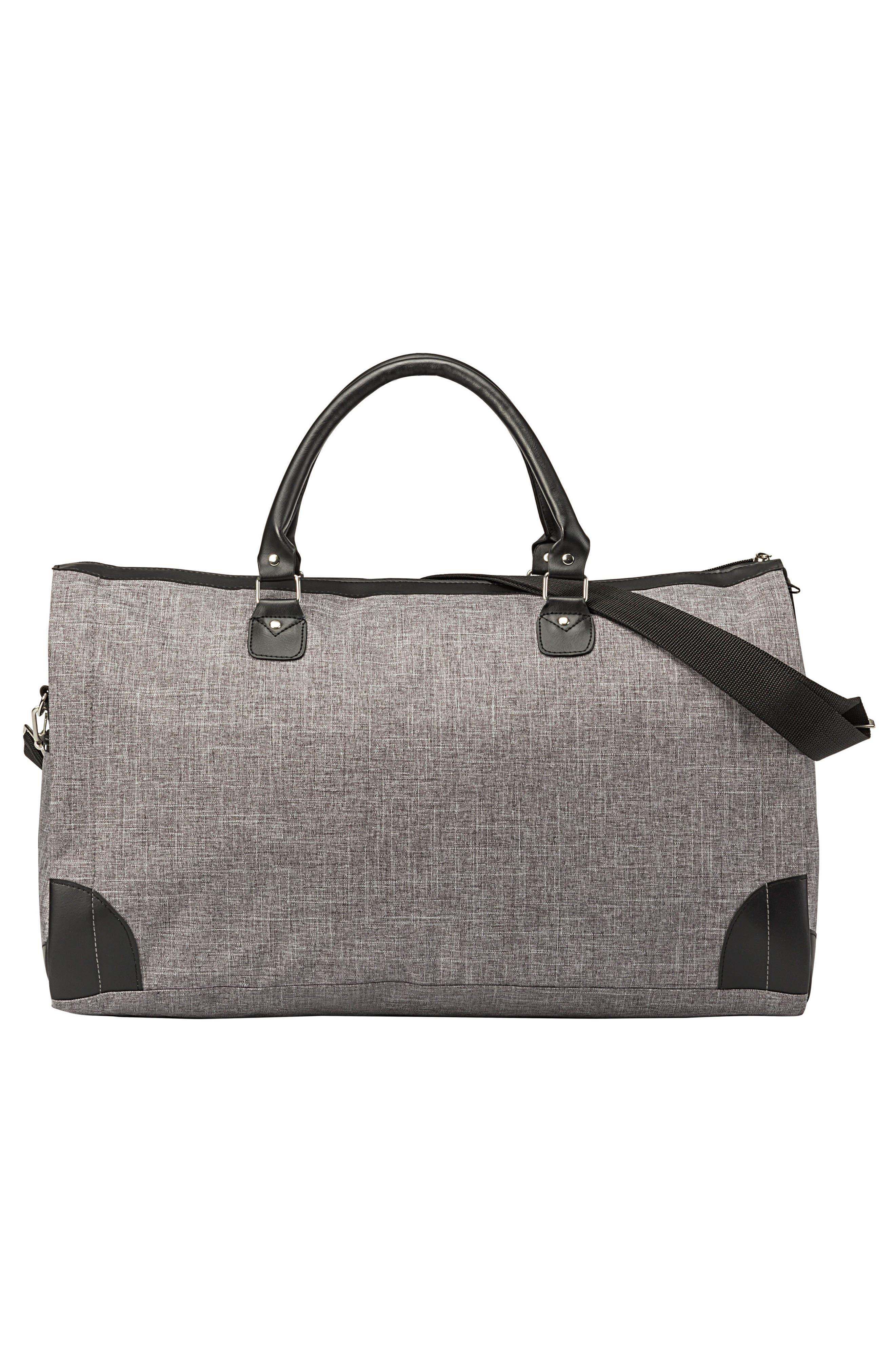 Monogram Duffel/Garment Bag,                             Alternate thumbnail 4, color,                             GREY A