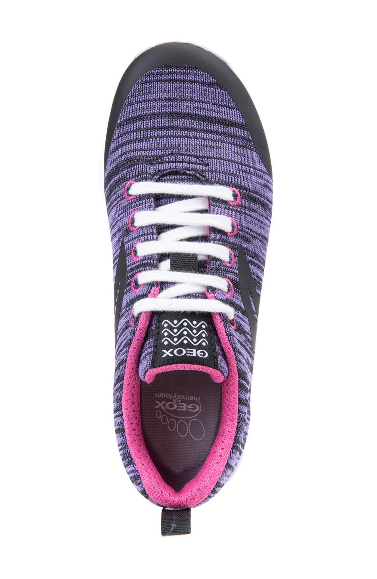 GEOX,                             Xunday Performance Knit Low Top Sneaker,                             Alternate thumbnail 5, color,                             574