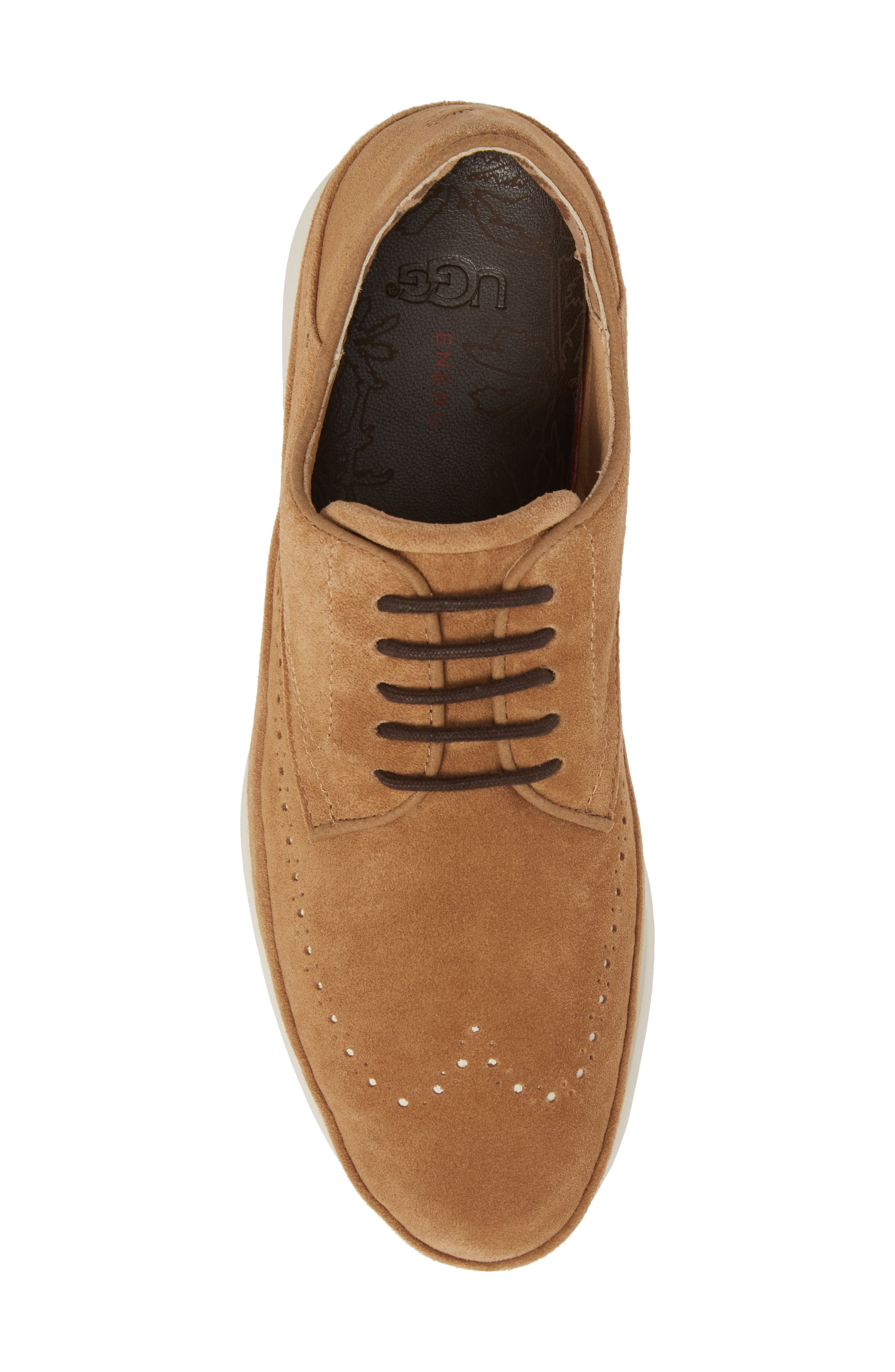 Cali Collapsible Wingtip Derby,                             Alternate thumbnail 5, color,                             CHESTNUT LEATHER