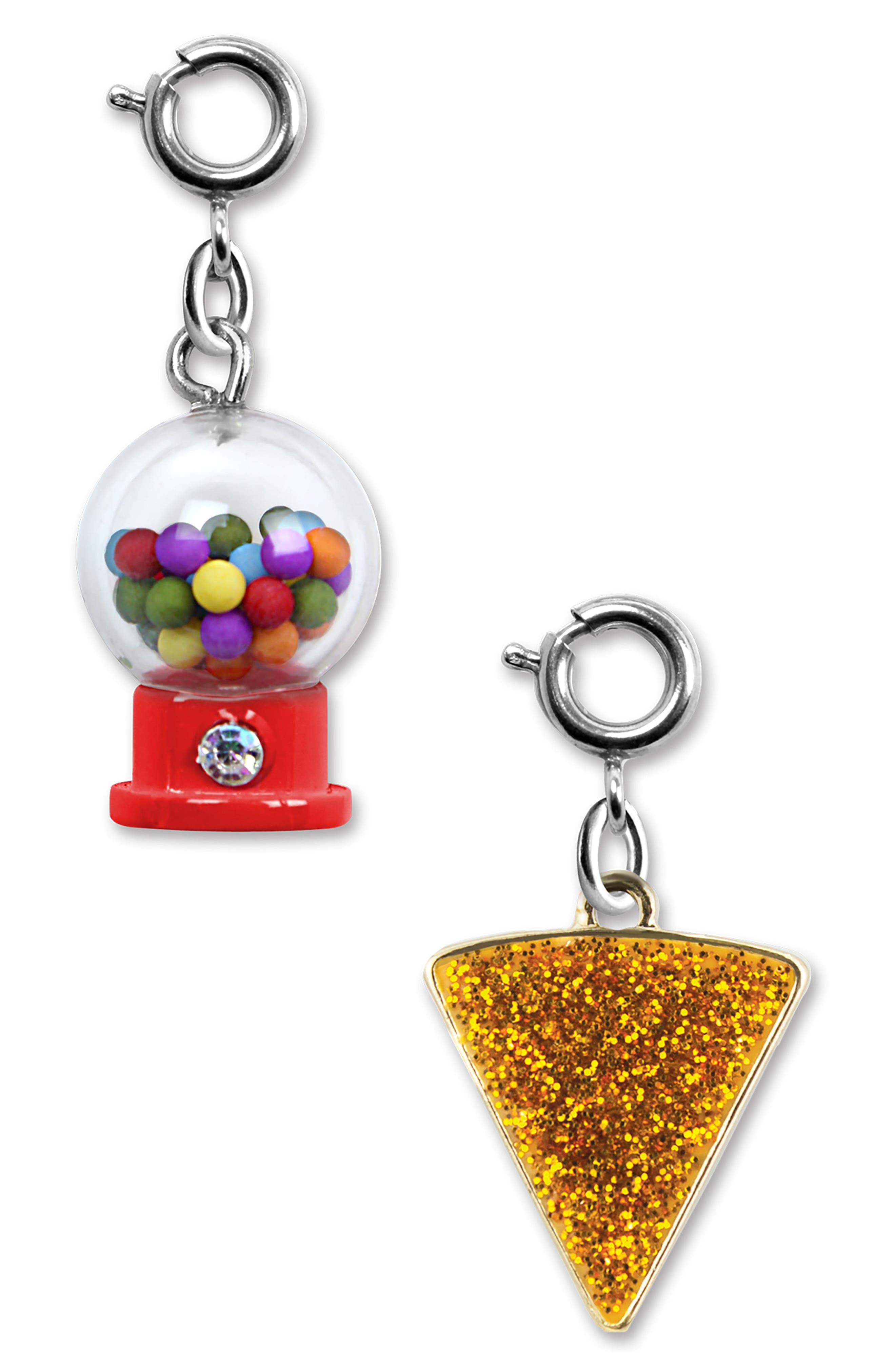 CHARM IT!<sup>®</sup> 2-Pack Gumball & Glitter Pizza Charms,                             Alternate thumbnail 2, color,                             MULTI