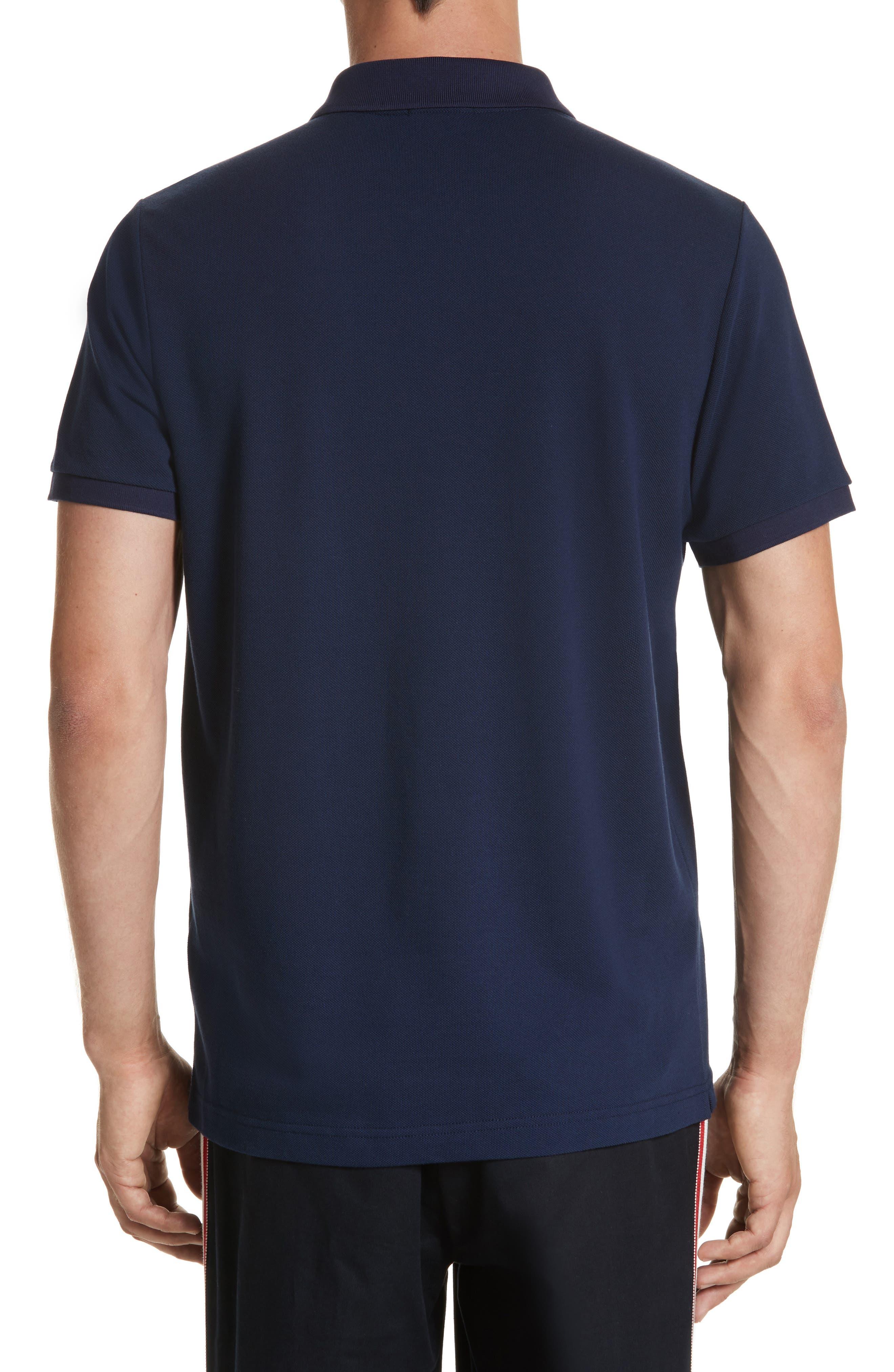 Dual Logo Polo Shirt,                             Alternate thumbnail 2, color,                             NAVY