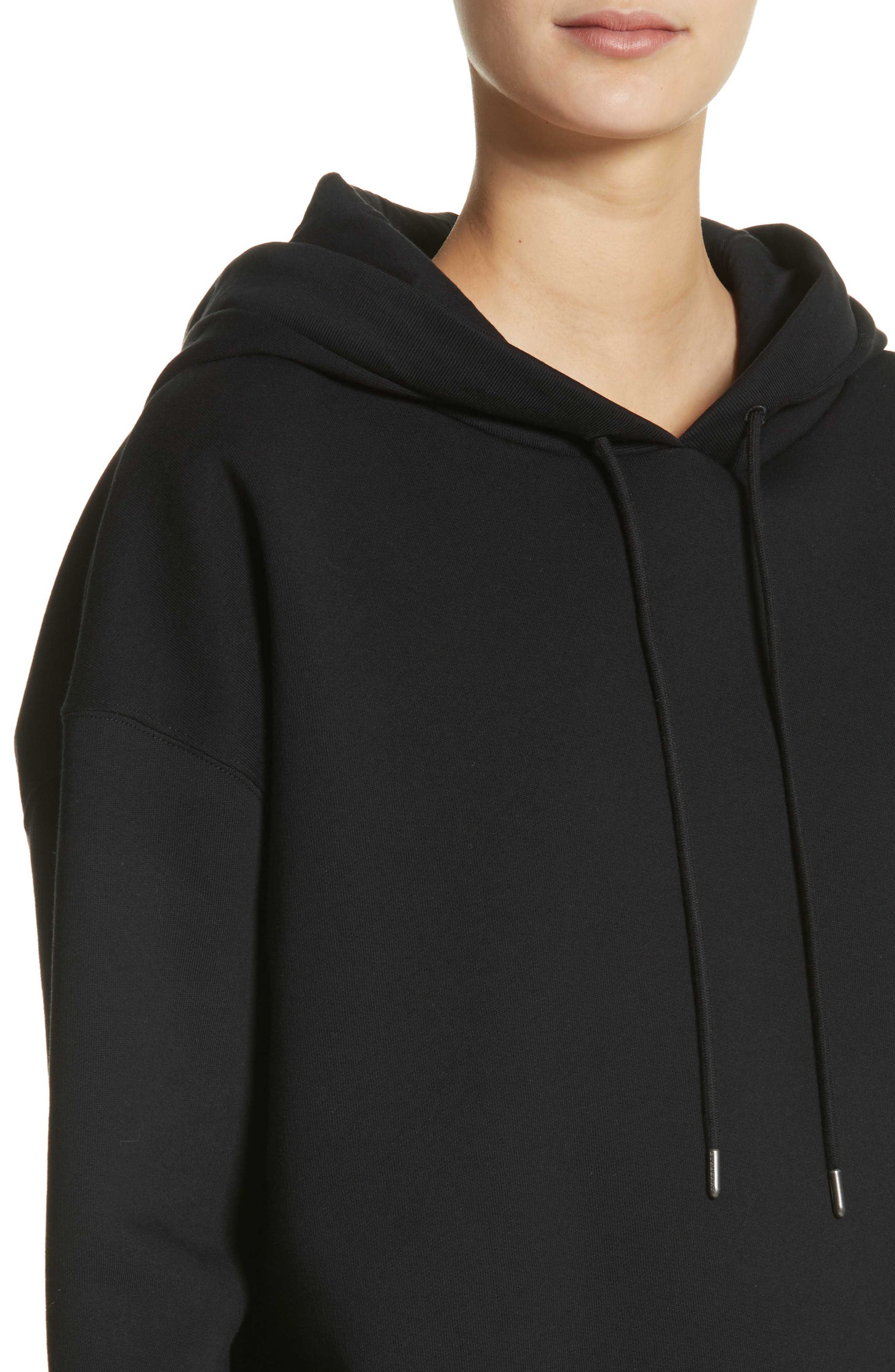 Escara Embroidered Hoodie,                             Alternate thumbnail 4, color,                             001