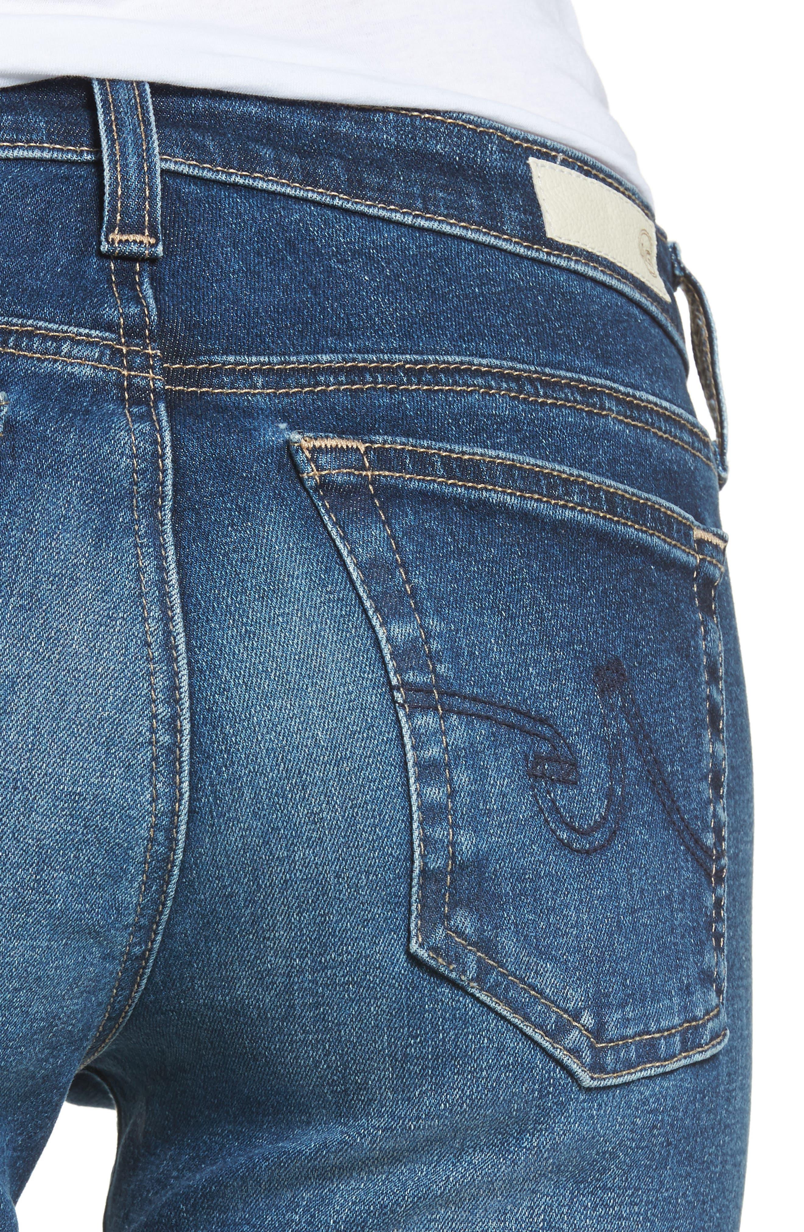 The Stilt Crop Skinny Jeans,                             Alternate thumbnail 4, color,                             416
