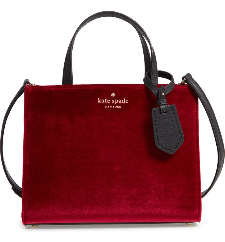 thompson street - sam velvet satchel,                         Main,                         color, RUSSET