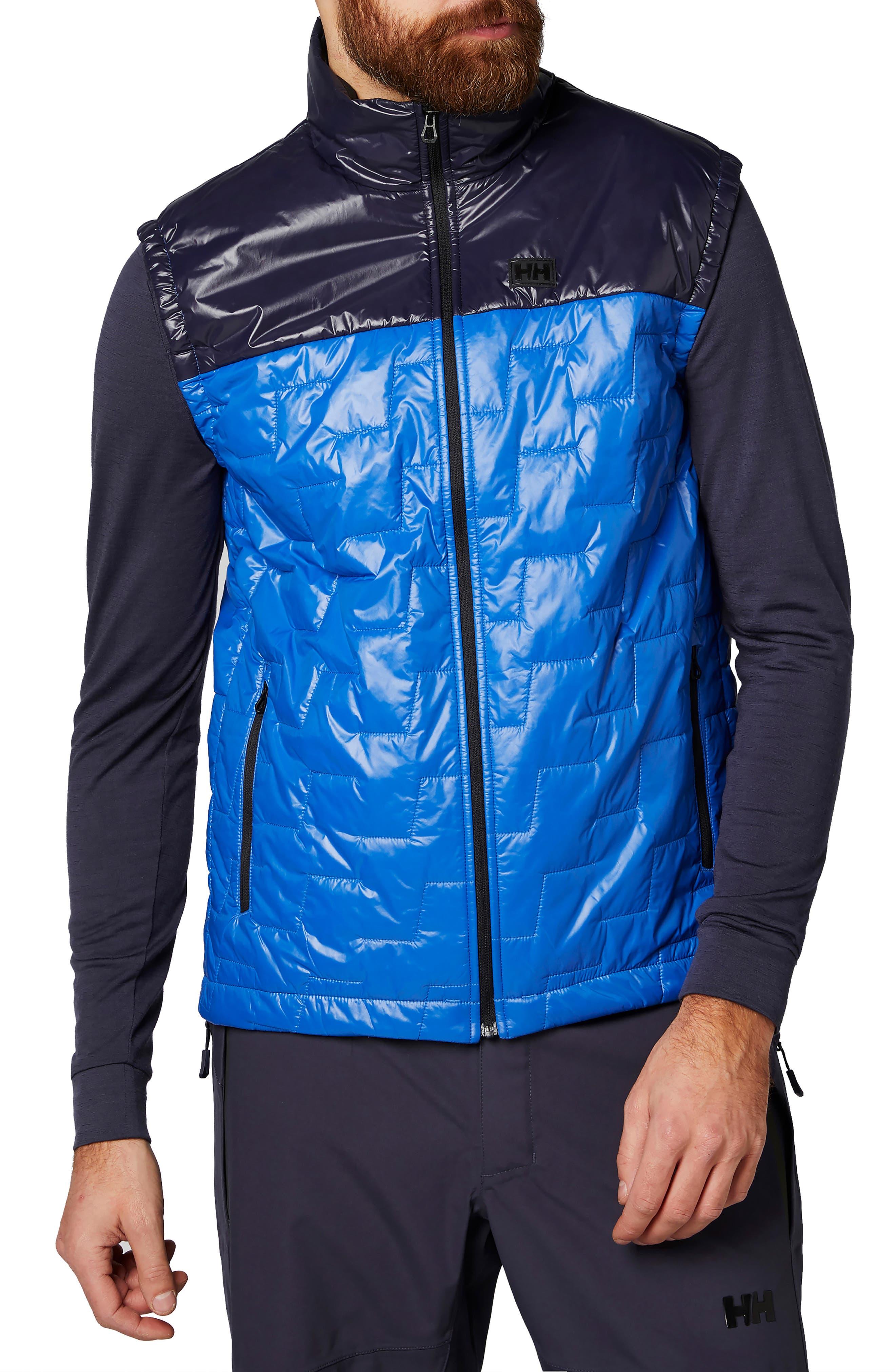 Liftaloft<sup>™</sup> Hybrid Water- & Wind-Resistant Insulator Vest, Main, color, OLYMPIAN BLUE