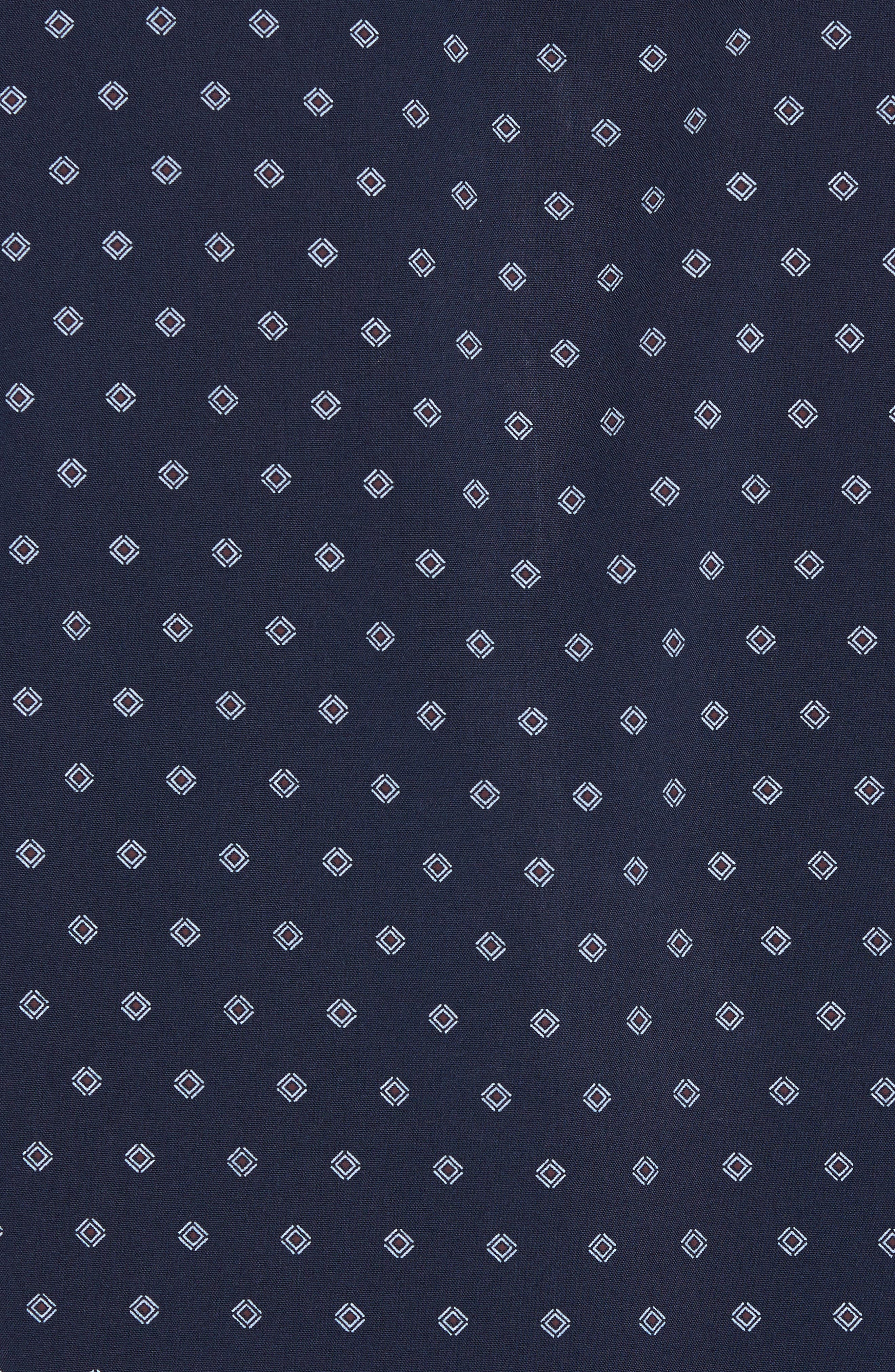 TED BAKER LONDON,                             Ilensky Micro Diamond Trim Sport Shirt,                             Alternate thumbnail 5, color,                             410