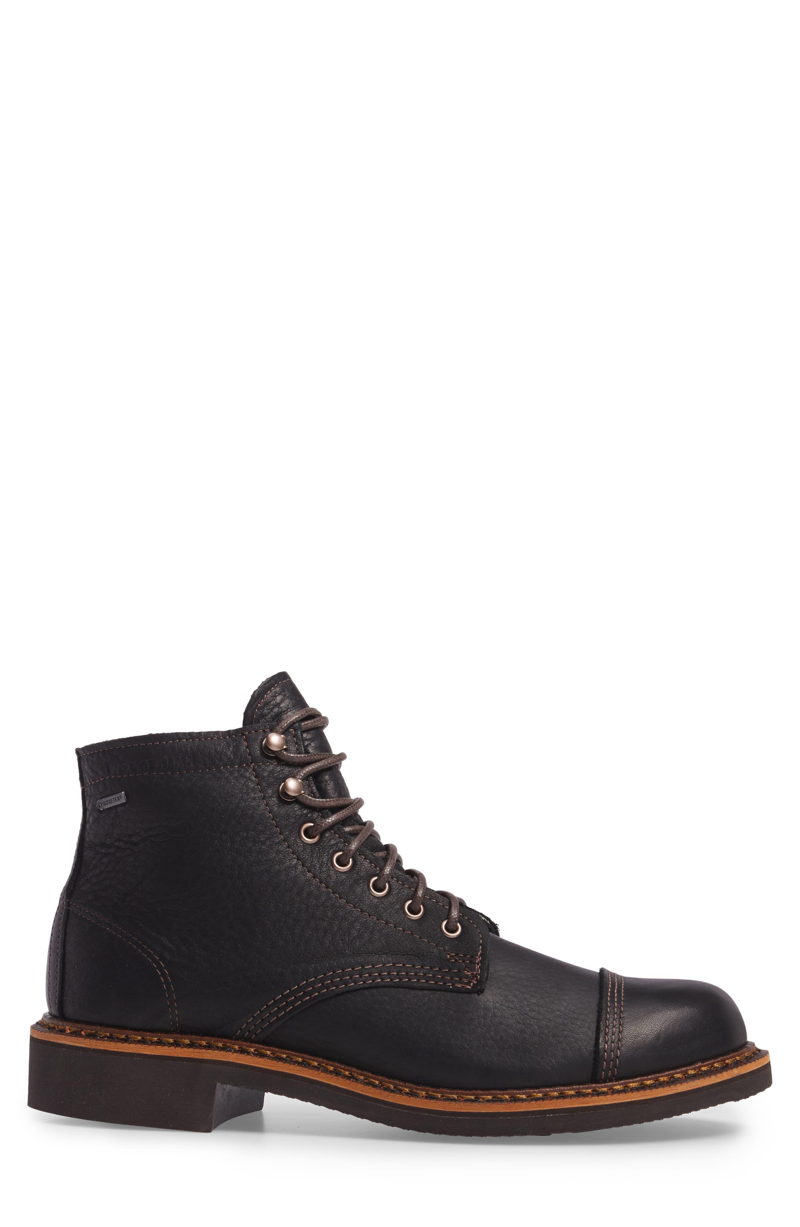 Jensen Cap Toe Boot,                             Alternate thumbnail 3, color,                             BLACK
