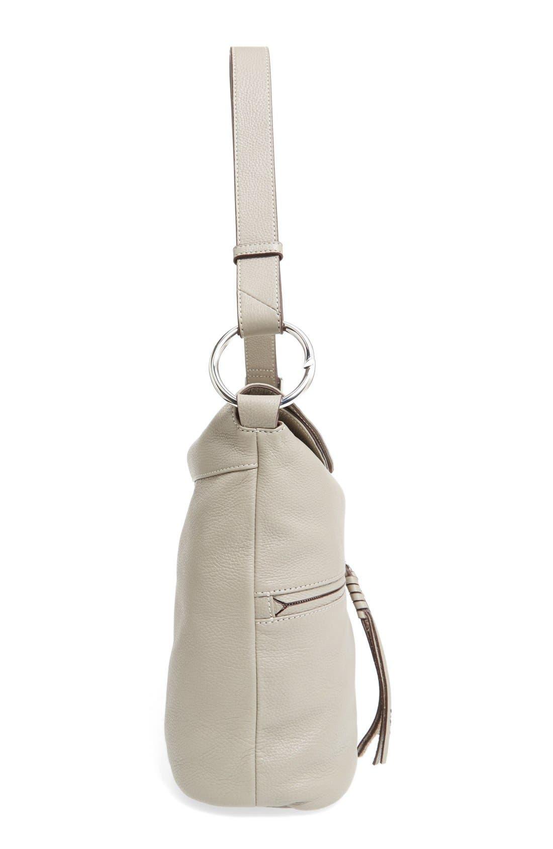 Finley Leather Hobo Bag,                             Alternate thumbnail 6, color,