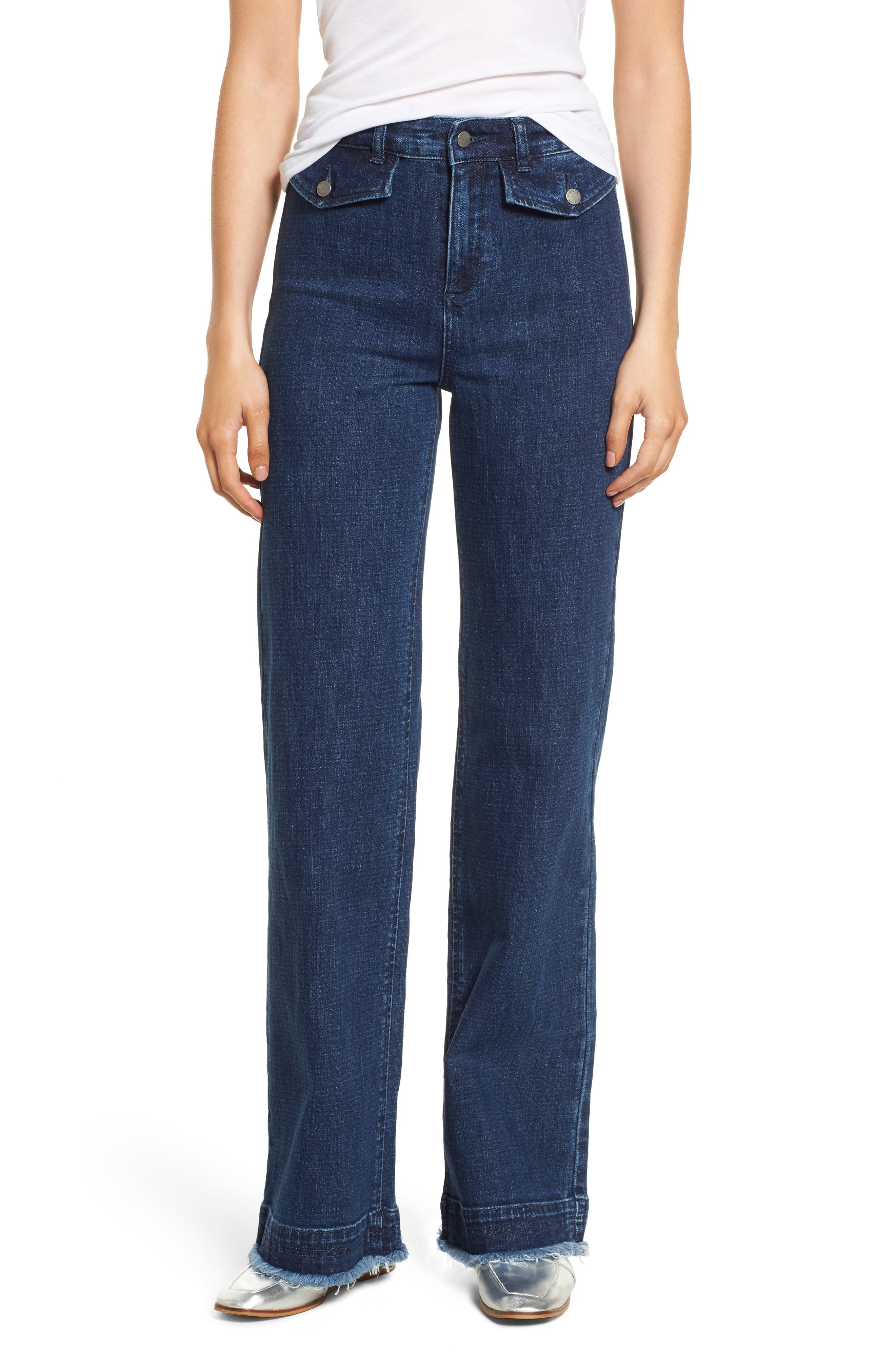 Elwood Wide Leg Jeans,                         Main,                         color, INDIGO