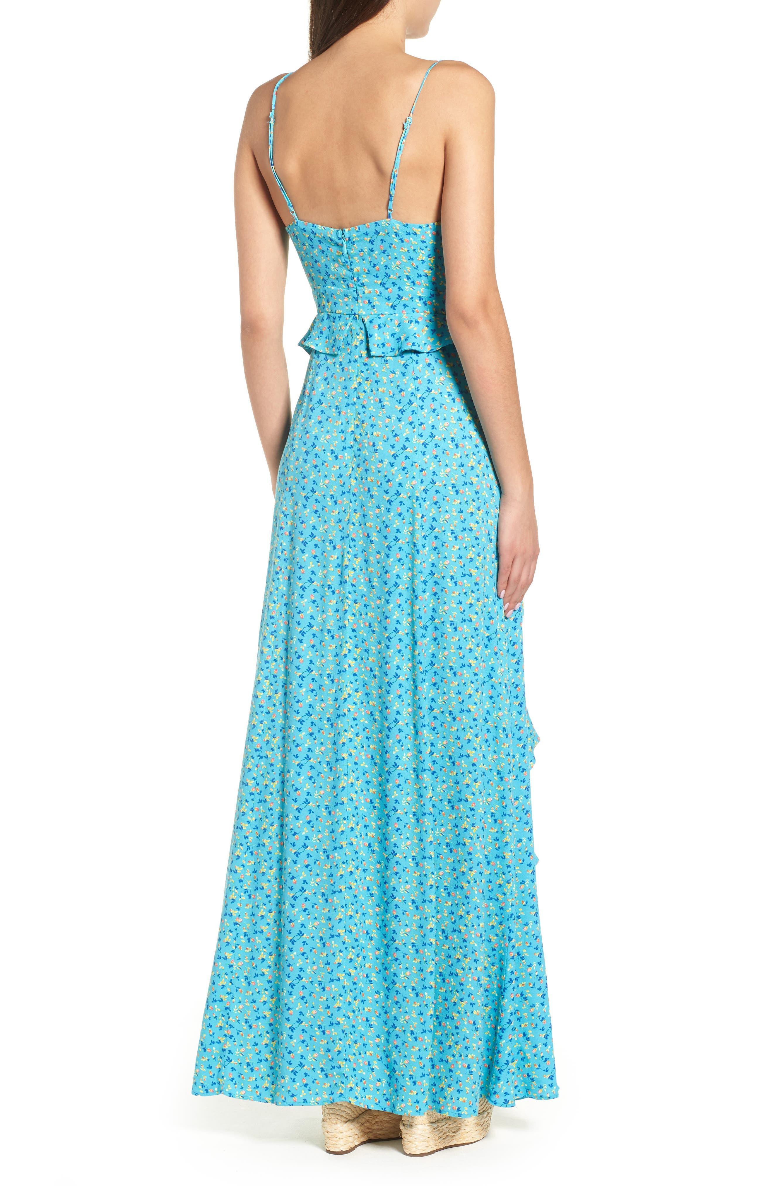 Kiki Ruffle Maxi Dress,                             Alternate thumbnail 2, color,                             400